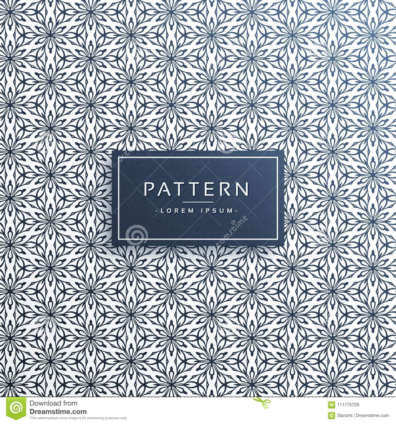 Detailed abstract flower pattern background