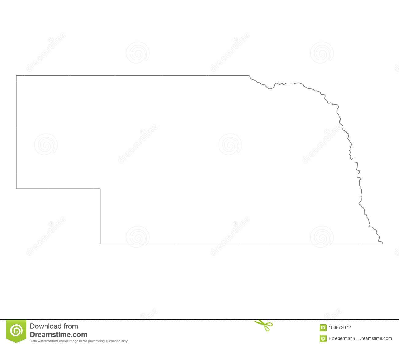Free Nebraska Map.Map Of Nebraska Stock Vector Illustration Of Vector 100572072