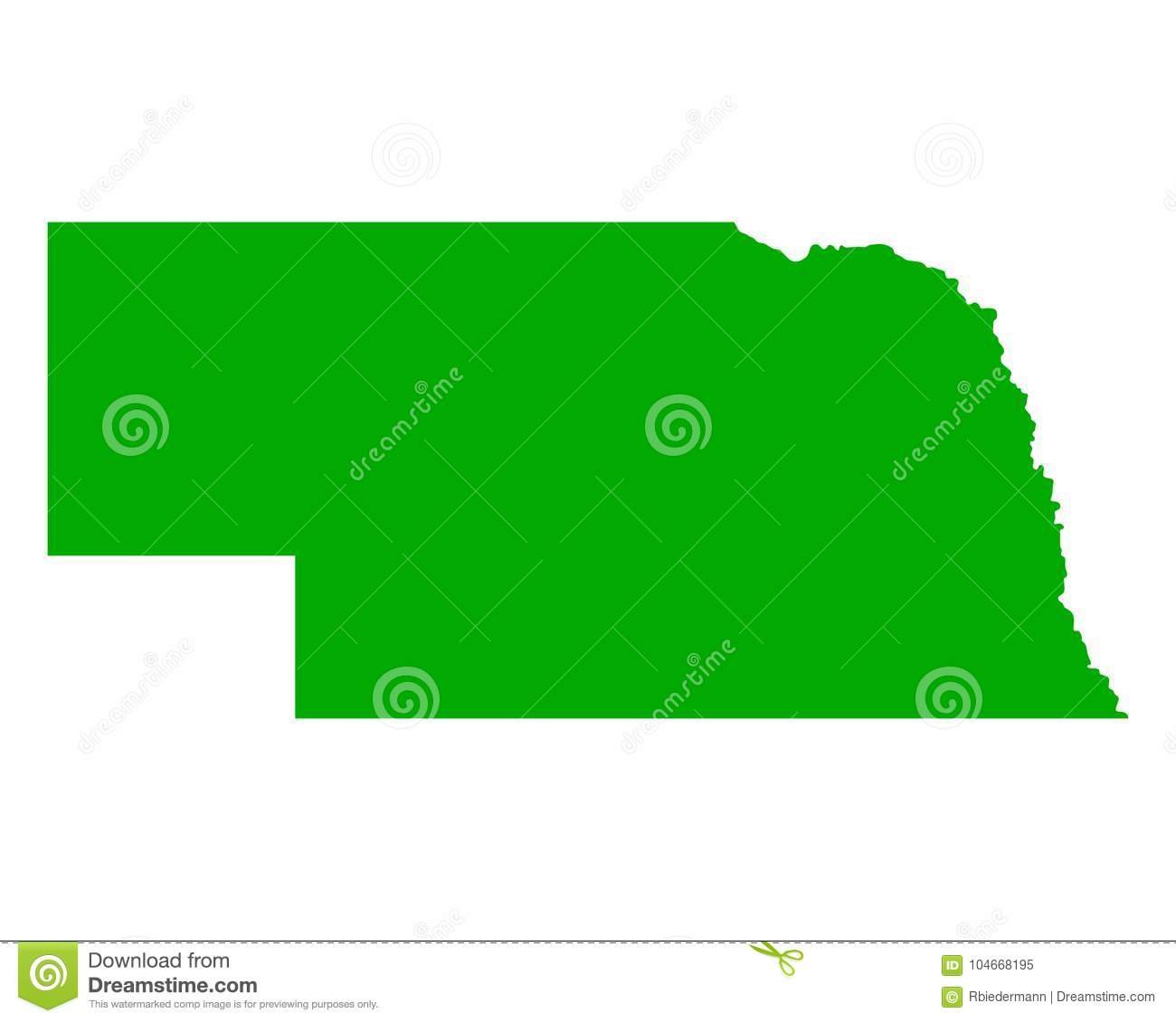 Free Nebraska Map.Map Of Nebraska Stock Vector Illustration Of United 104668195