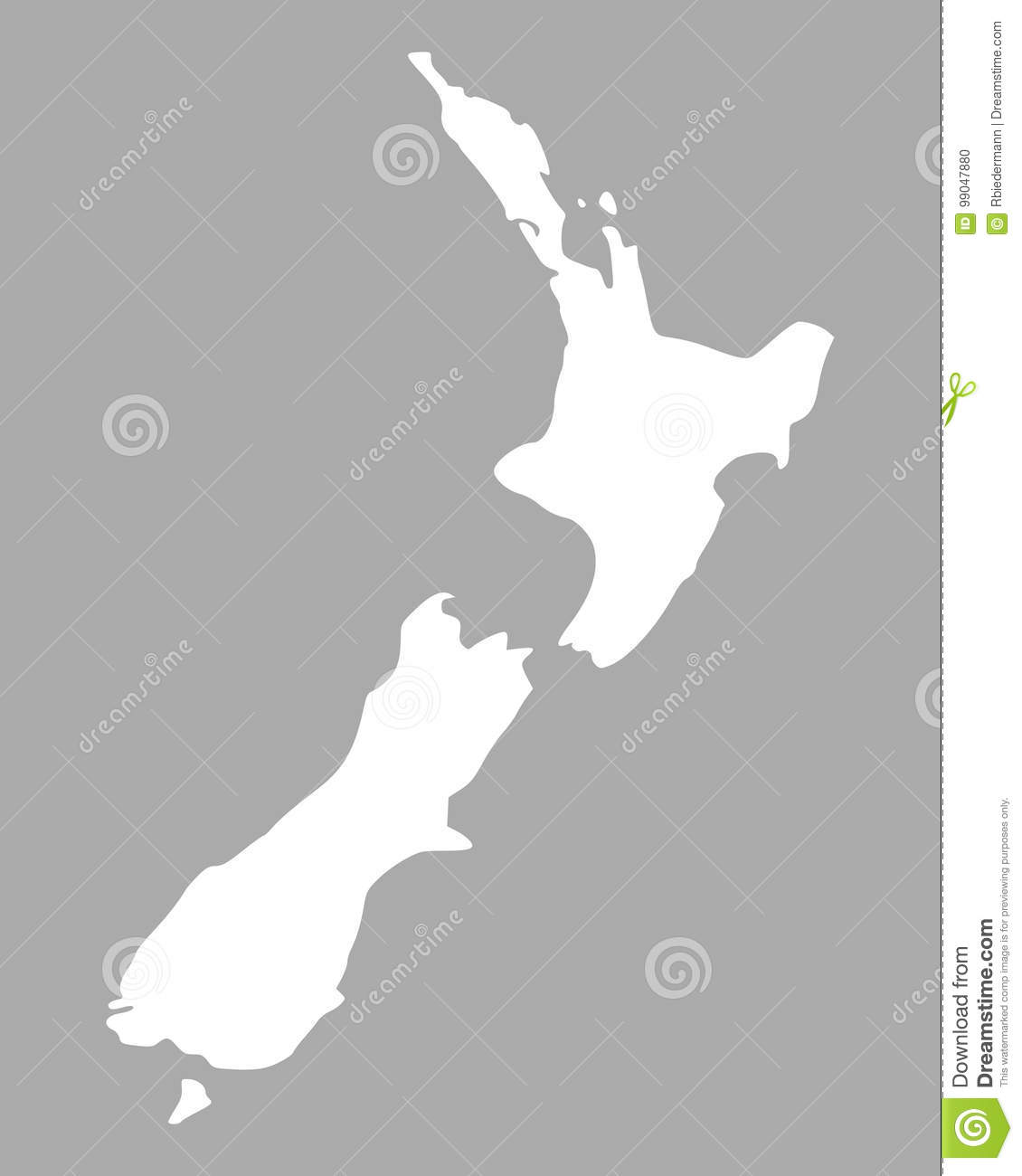 Detailed Map Of New Zealand.Map Of New Zealand Stock Vector Illustration Of Cartography 99047880