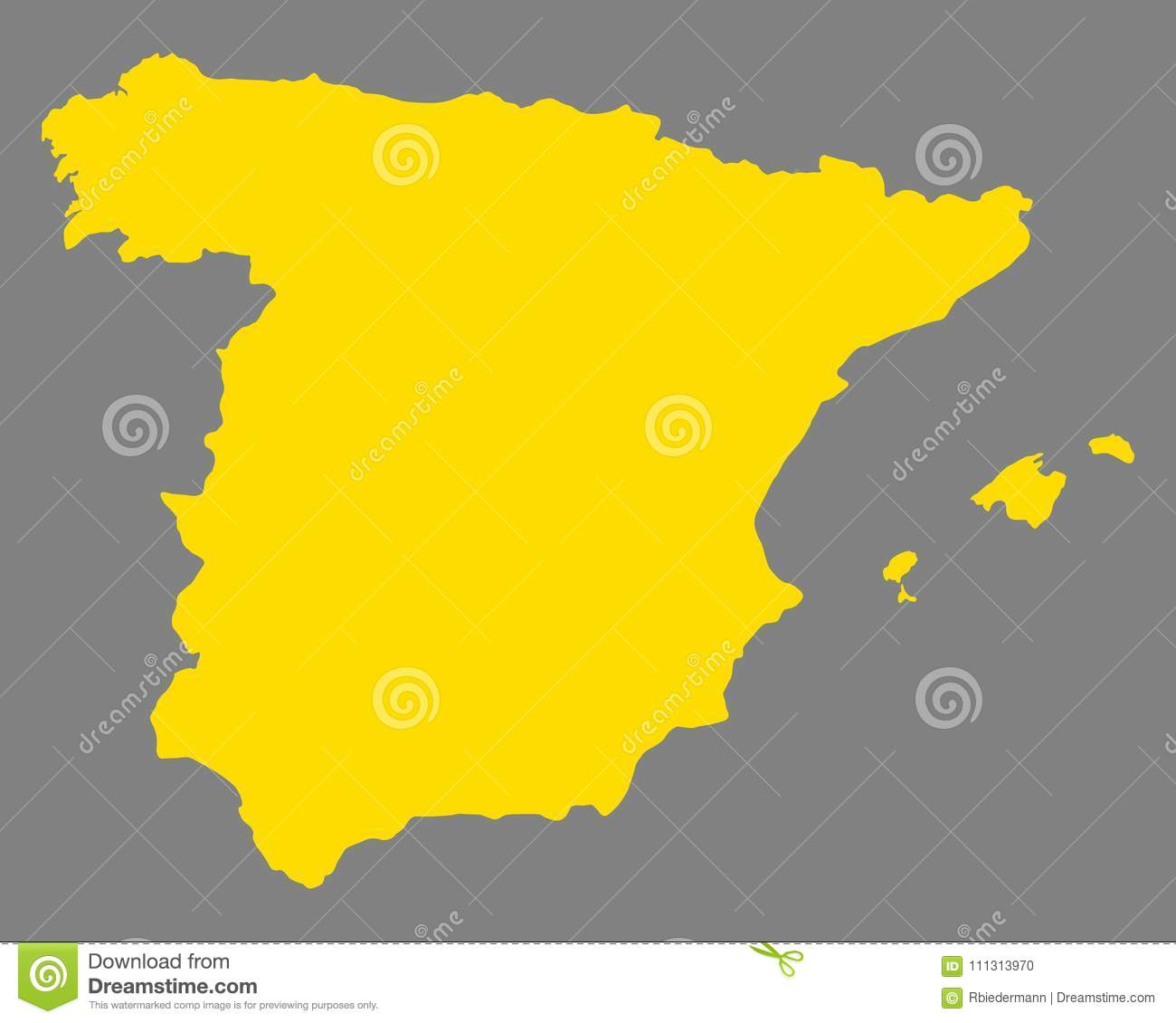 Map Of Spain Geography.Map Of Spain Stock Vector Illustration Of Geography 111313970