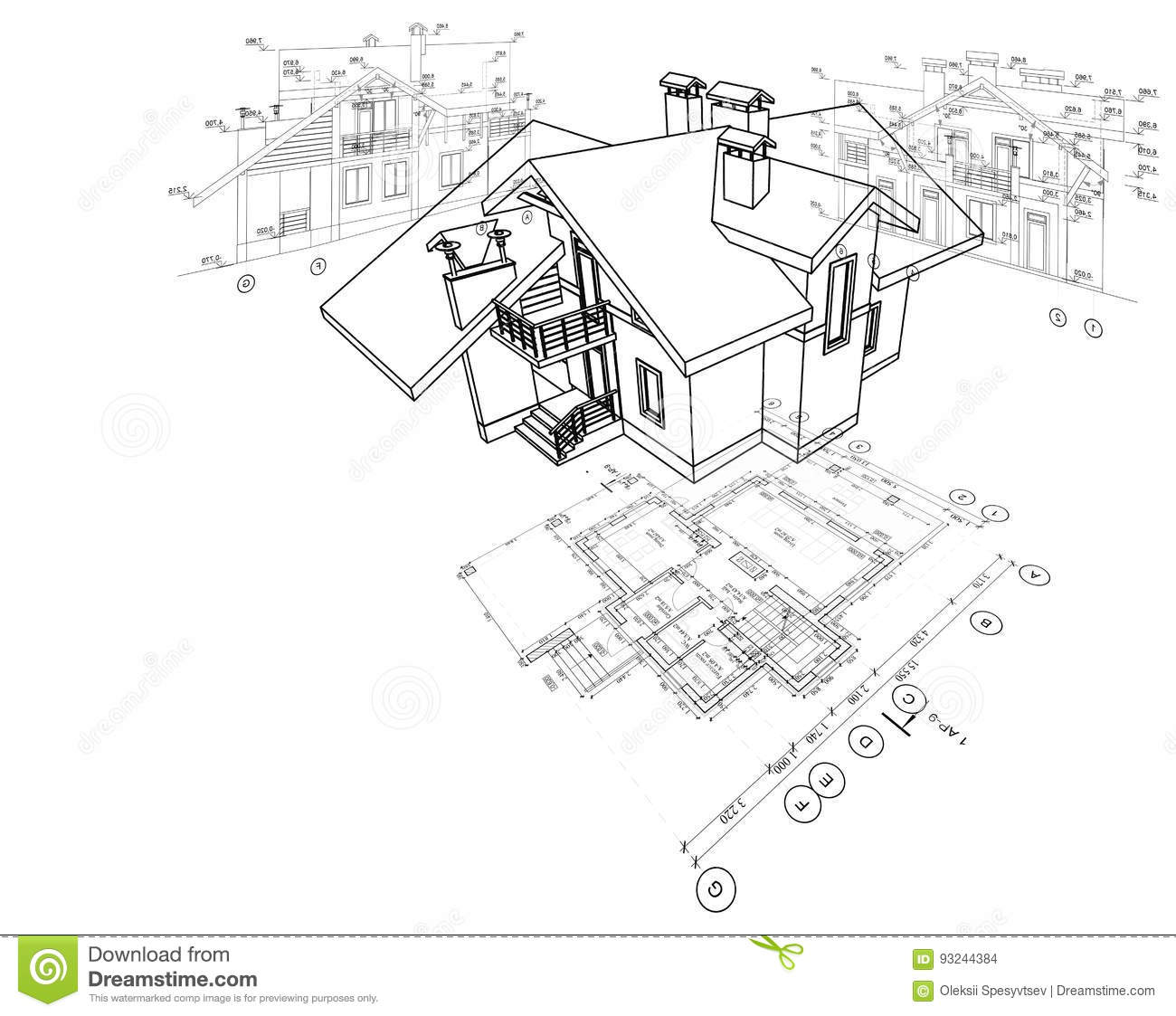 Detailed Architectural Plan Floor Plan Layout Perspective View 3d Model Stock Illustration Illustration Of Floor Architecture 93244384