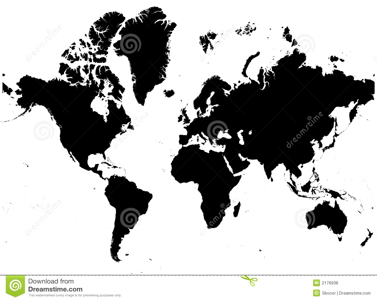 World map mercator projection stock vector illustration of detailed bw map of the world royalty free stock photos gumiabroncs Images