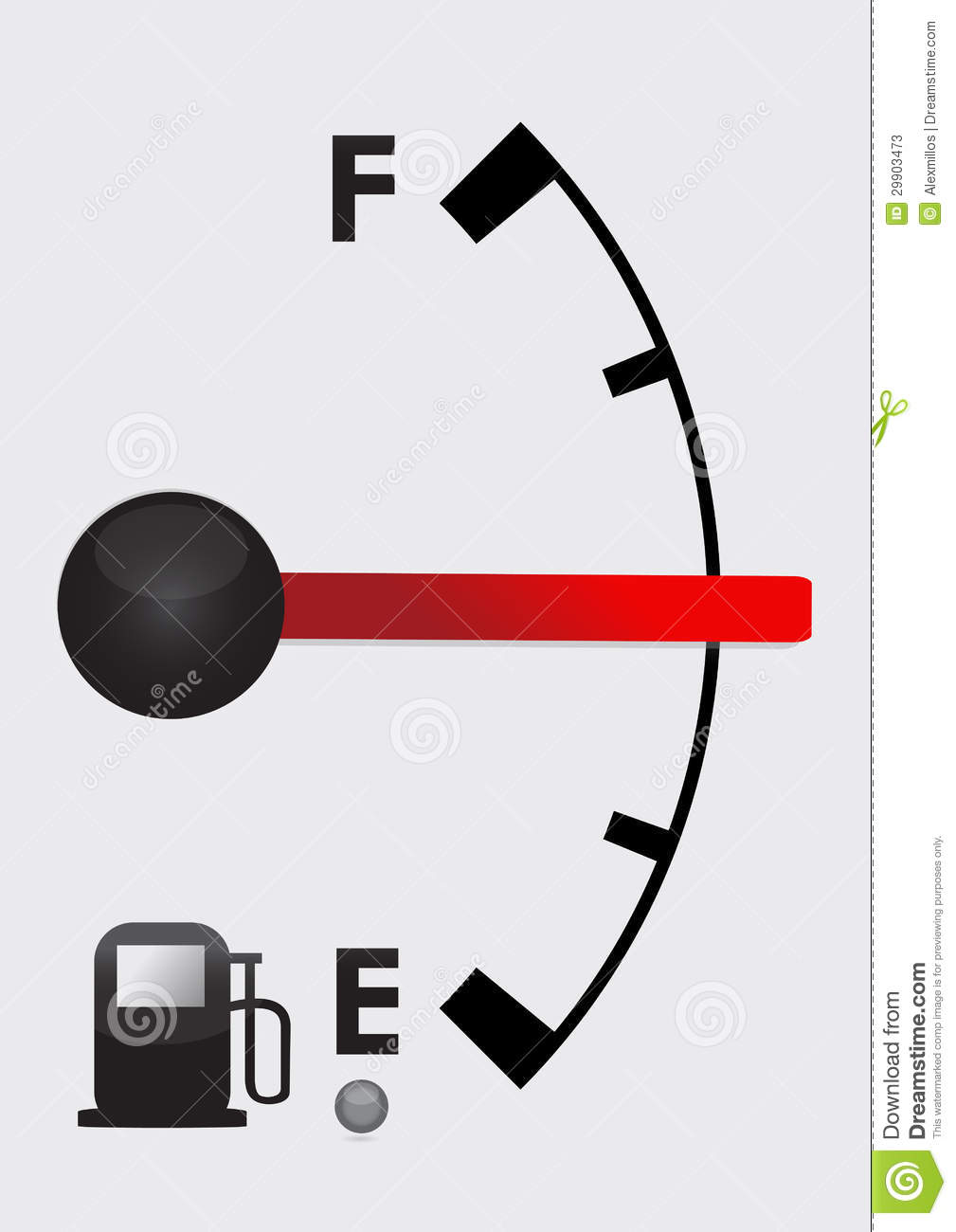Detailed Gas Tank, Half Full Or Half Empty Stock Illustration -  Illustration of icon, environment: 29903473