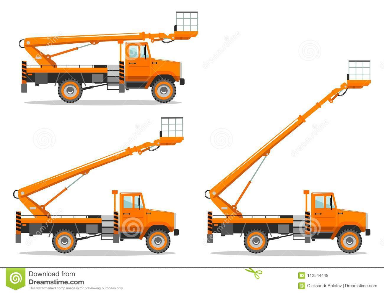 Aerial Platform Truck With Different Boom Position Heavy