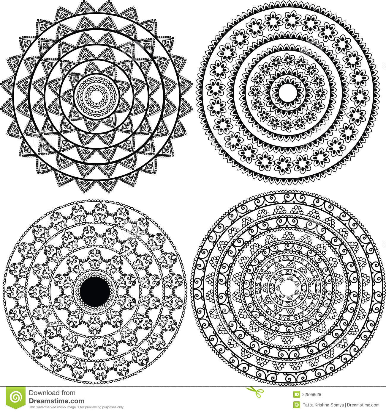 Detailed Mandala Design Royalty Free Stock Photos - Image: 22599628