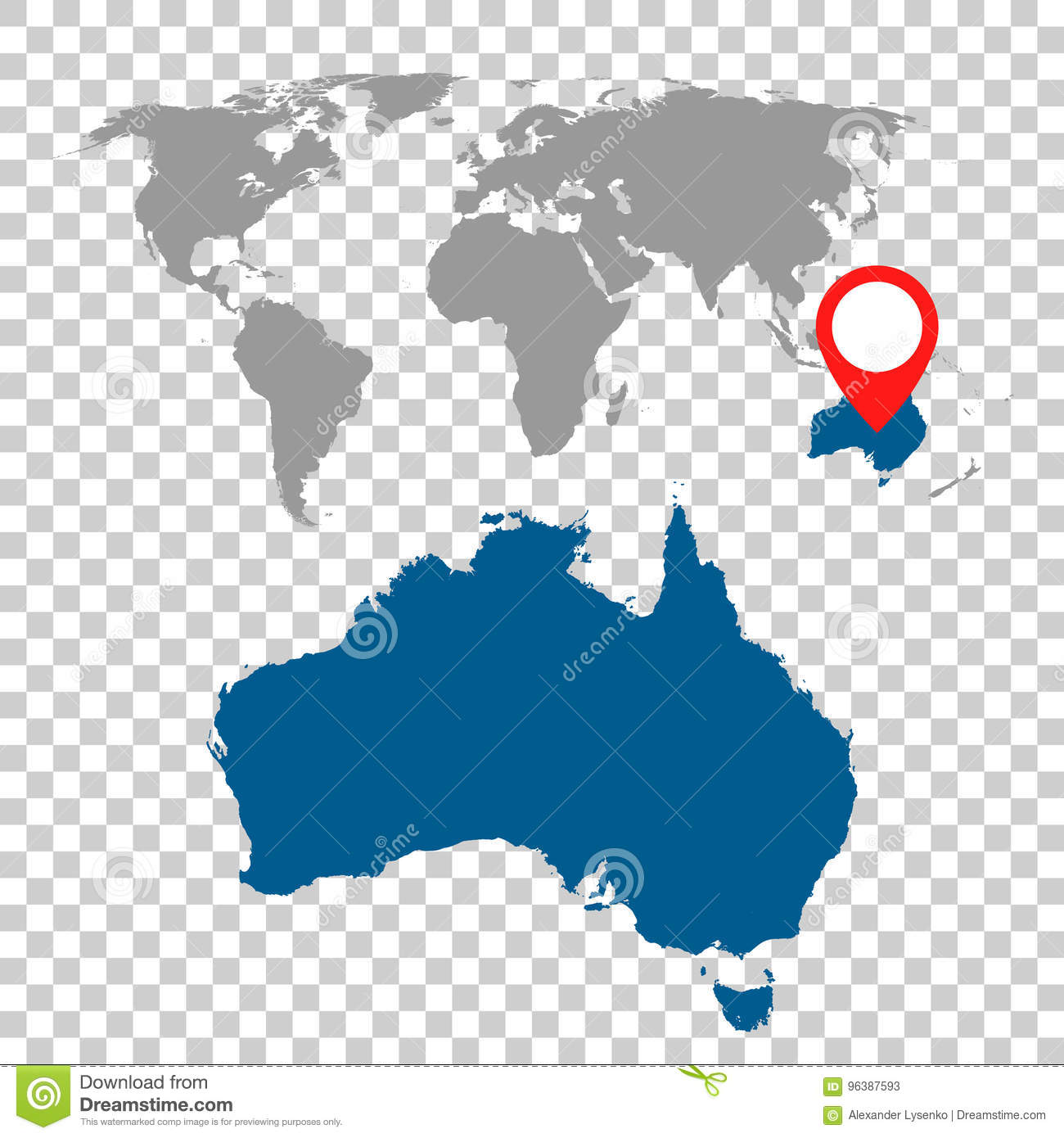 Detailed map of australia and world map navigation set flat vec detailed map of australia and world map navigation set flat vec gumiabroncs Choice Image