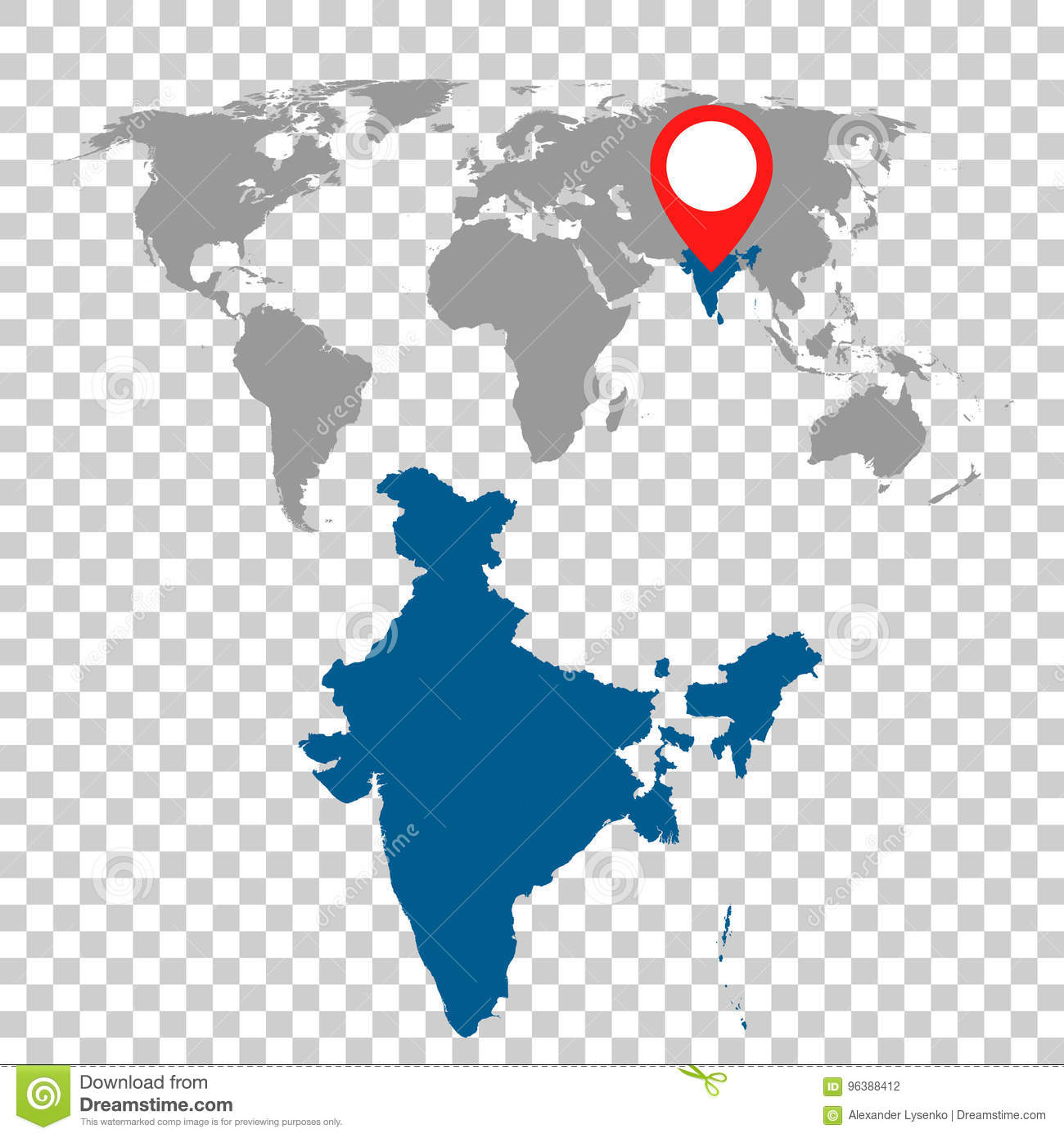 Detailed map of india and world map navigation set flat vector download comp gumiabroncs Image collections