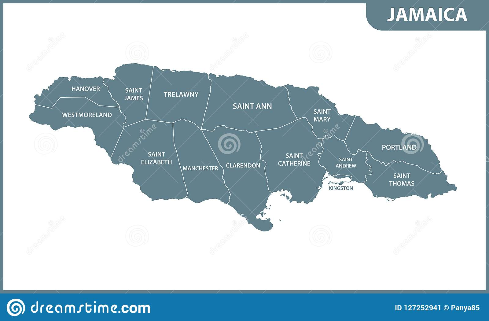 The Detailed Map Of Jamaica With Regions Or States ...