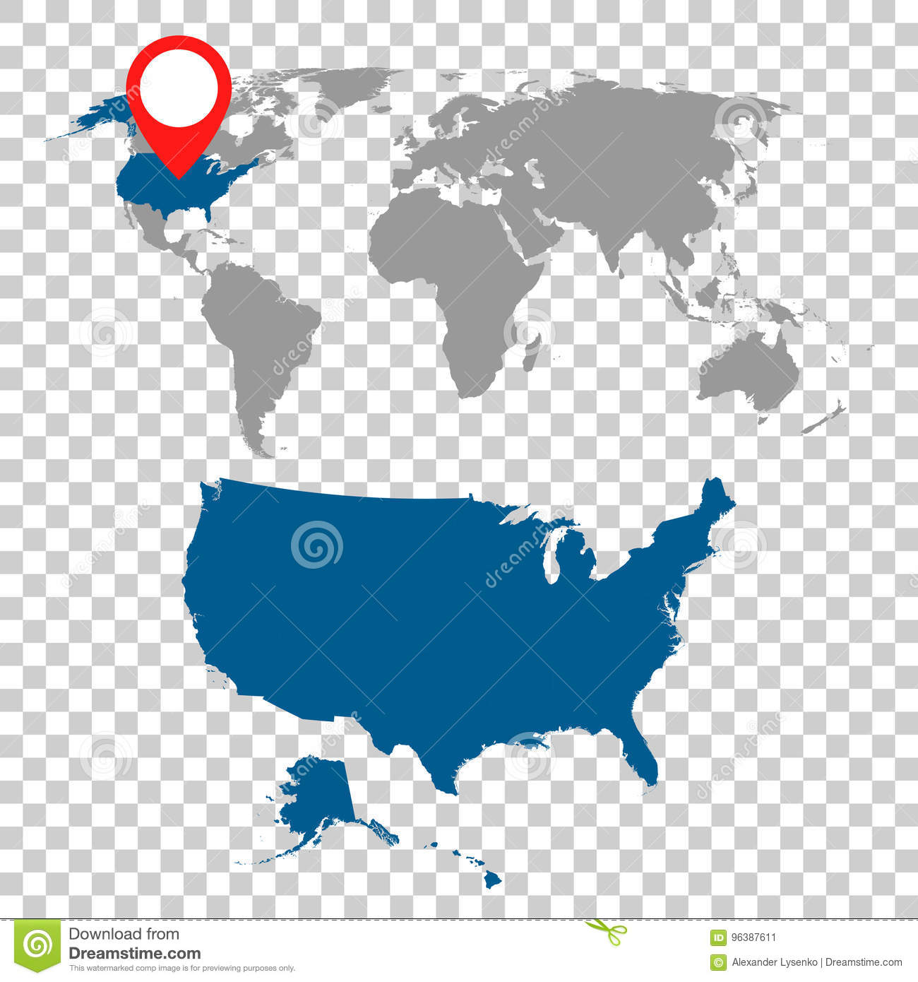 Detailed map of usa and world map navigation set flat vector il detailed map of usa and world map navigation set flat vector il continent north gumiabroncs Choice Image
