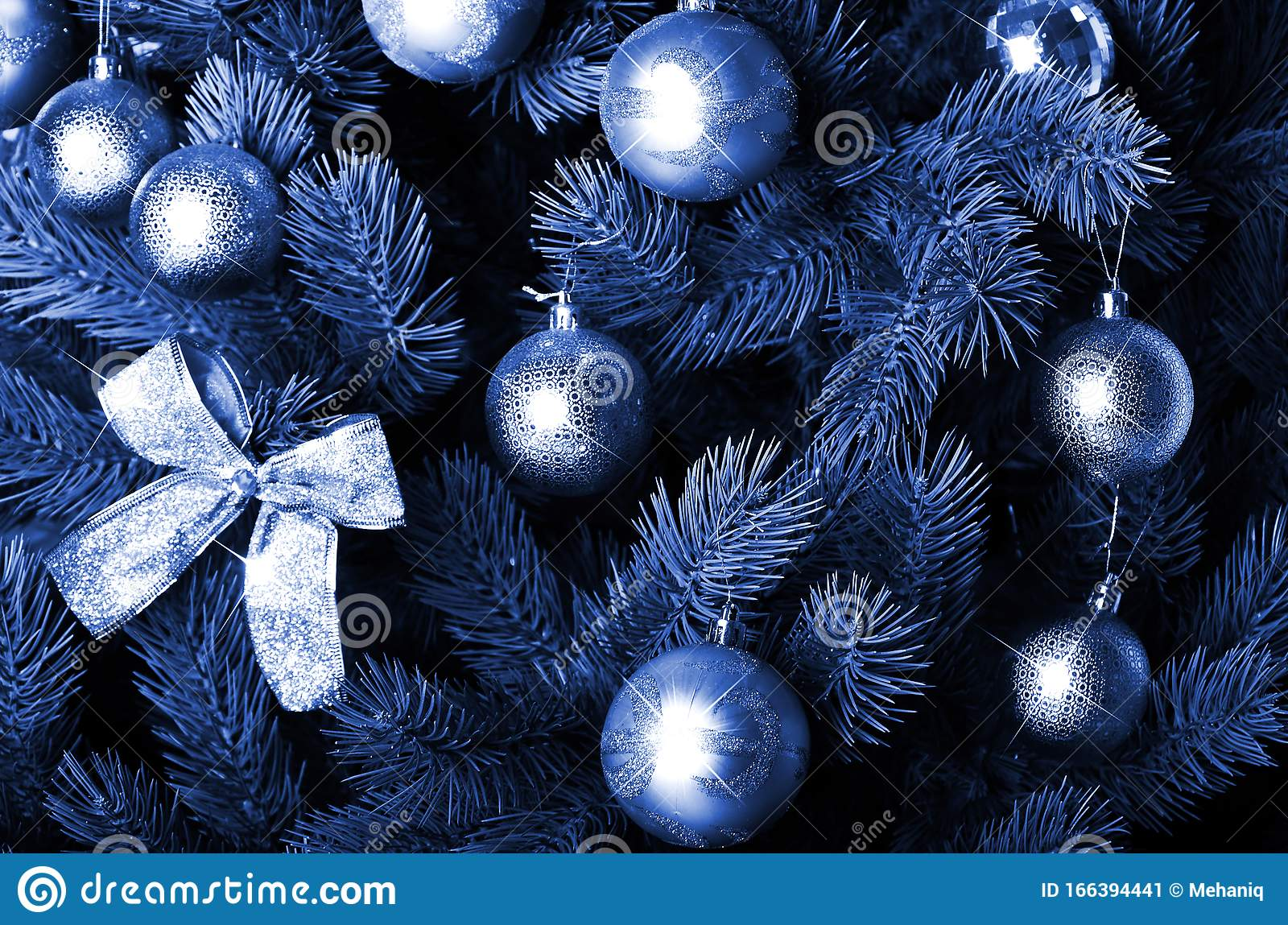 Detailed Photo Of The Christmas Tree Phantom Classic Blue Color Stock Image Image Of Nature Holiday 166394441