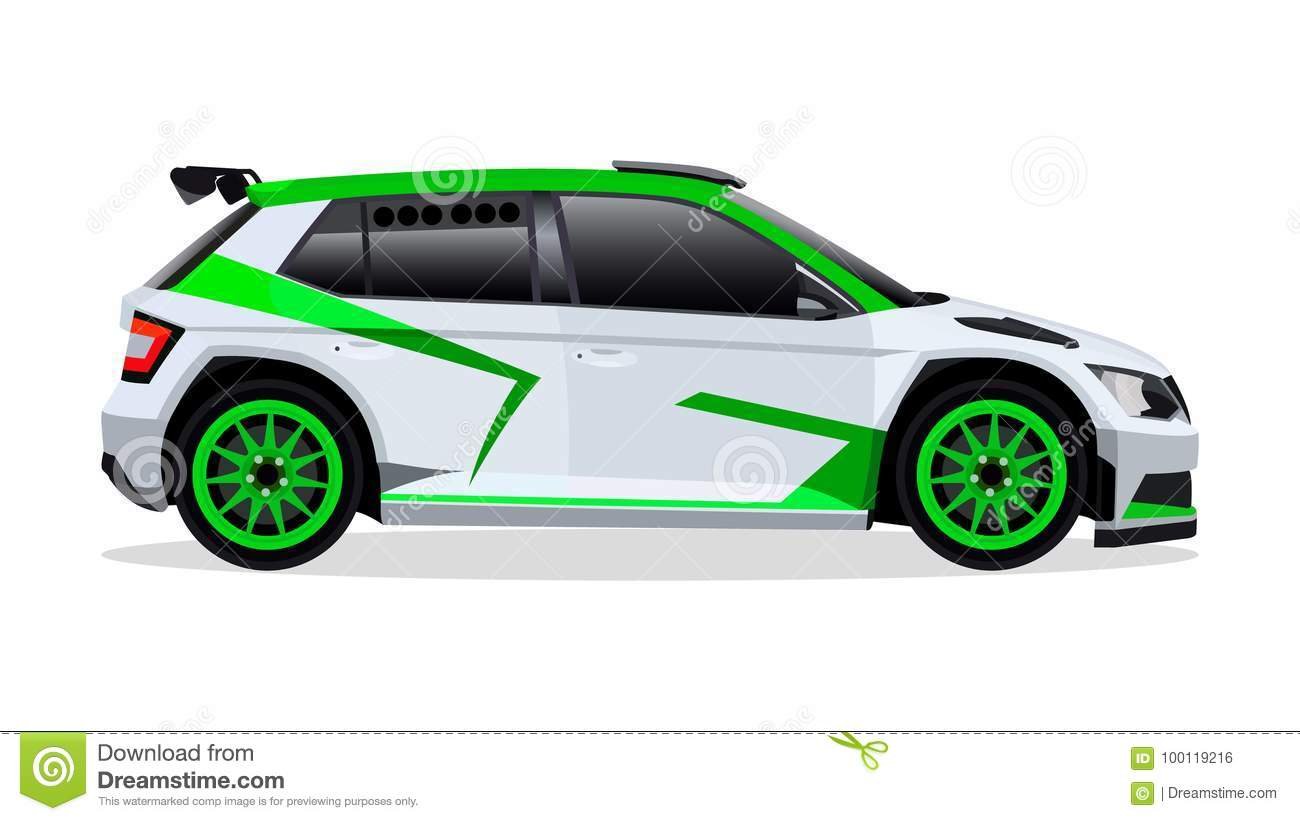 Rally Sports Car Stock Vector Illustration Of Racing 100119216
