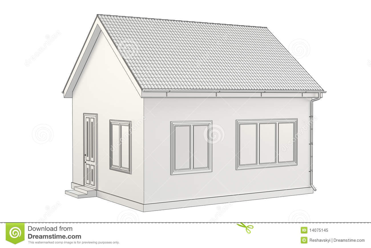 A detailed sketch of house royalty free stock photo for House sketches from photos