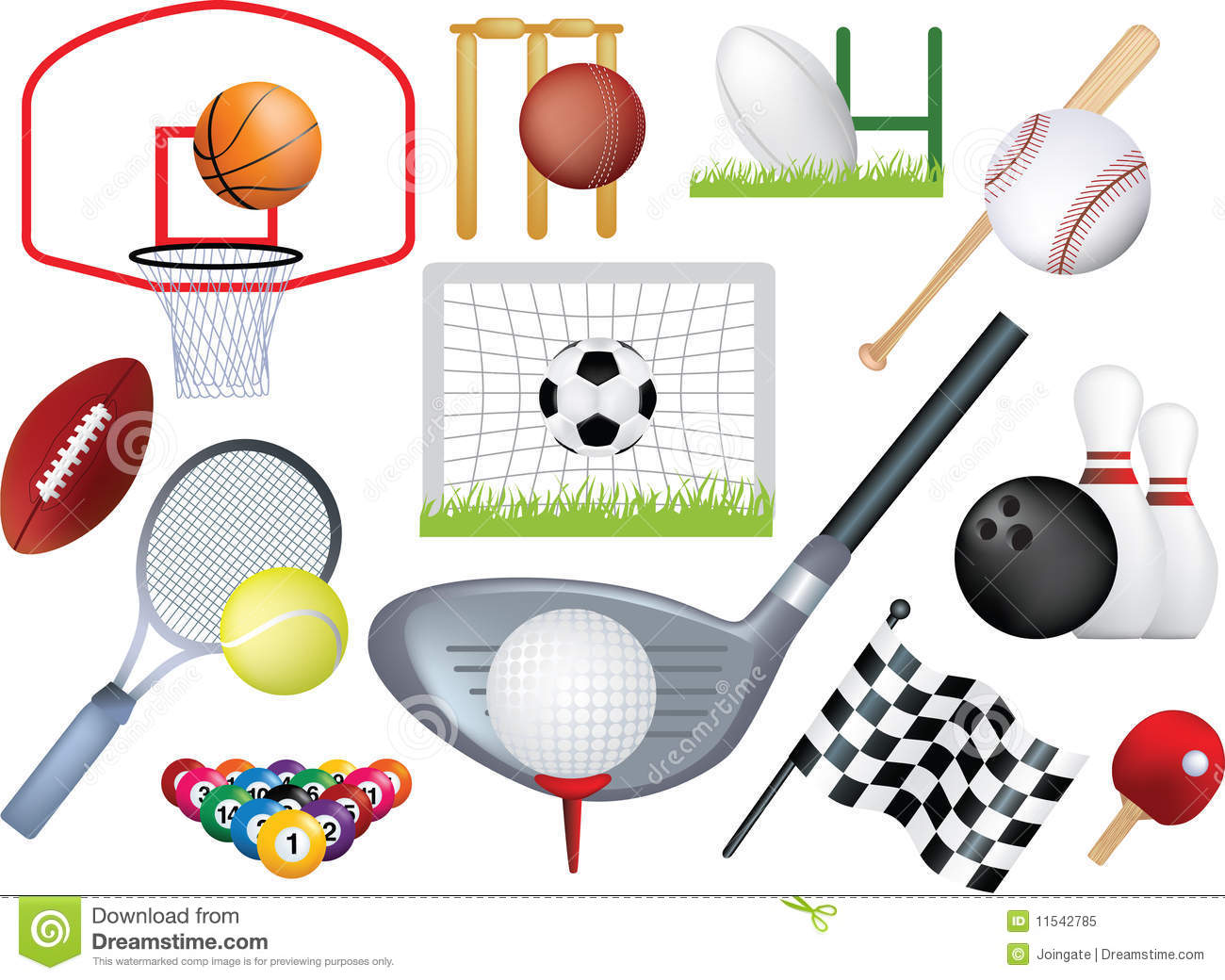 Detailed sports montage stock vector. Image of ...
