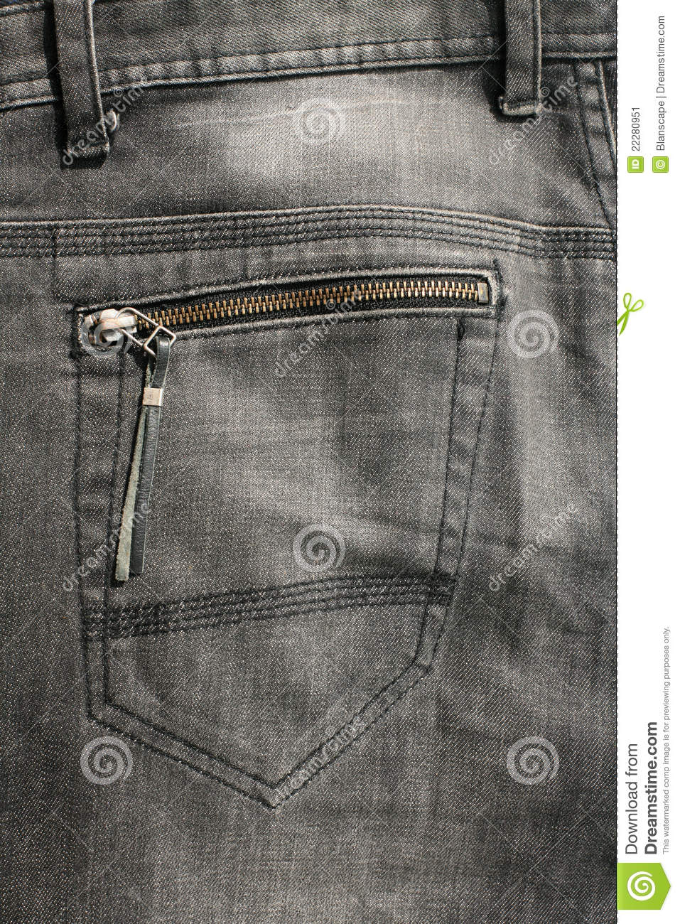 Jeans Back Pocket Texture Detailed Texture: Back...