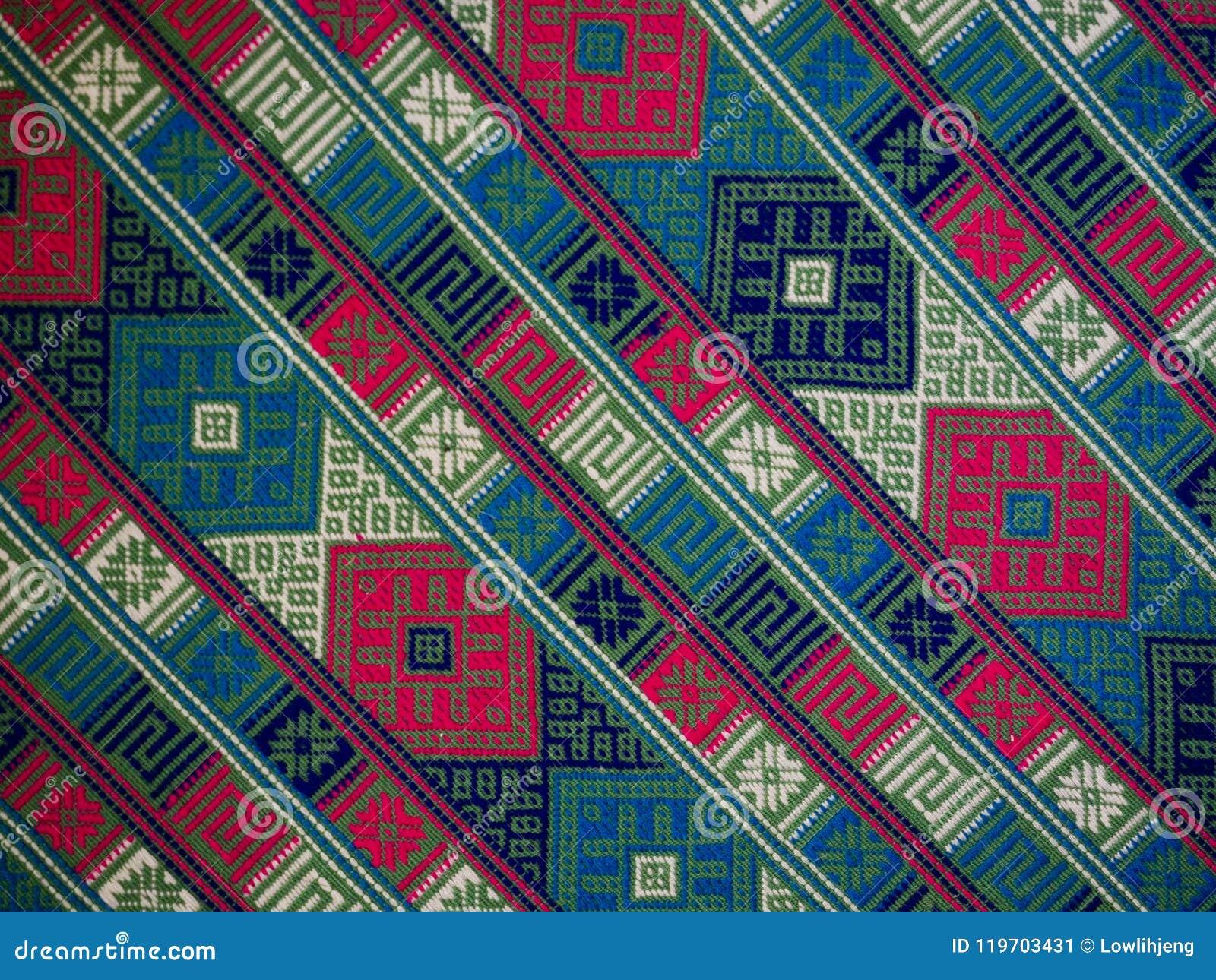 Hand woven textile background, Bhutan