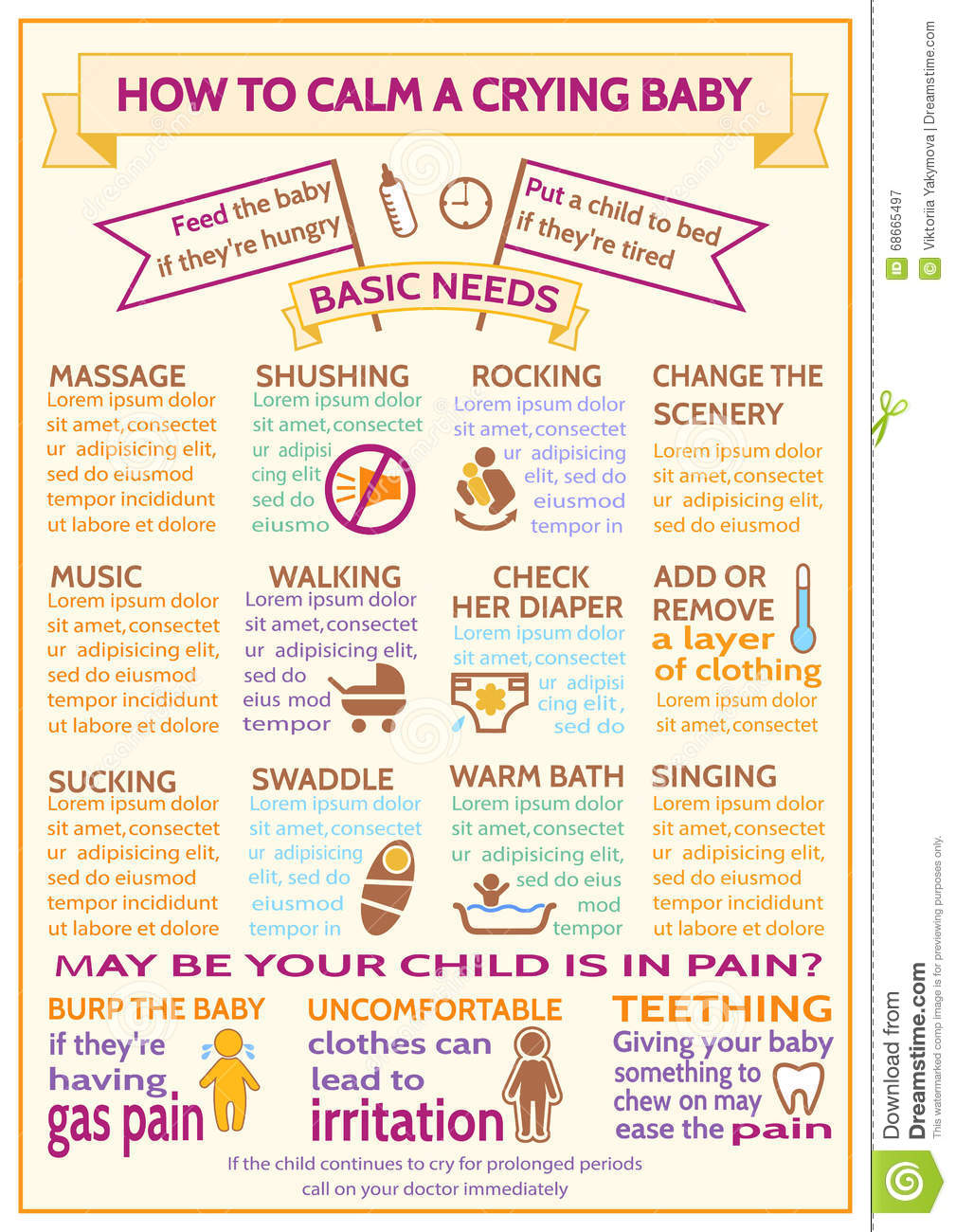 Detailed Vector Baby Child Infographic Presentation