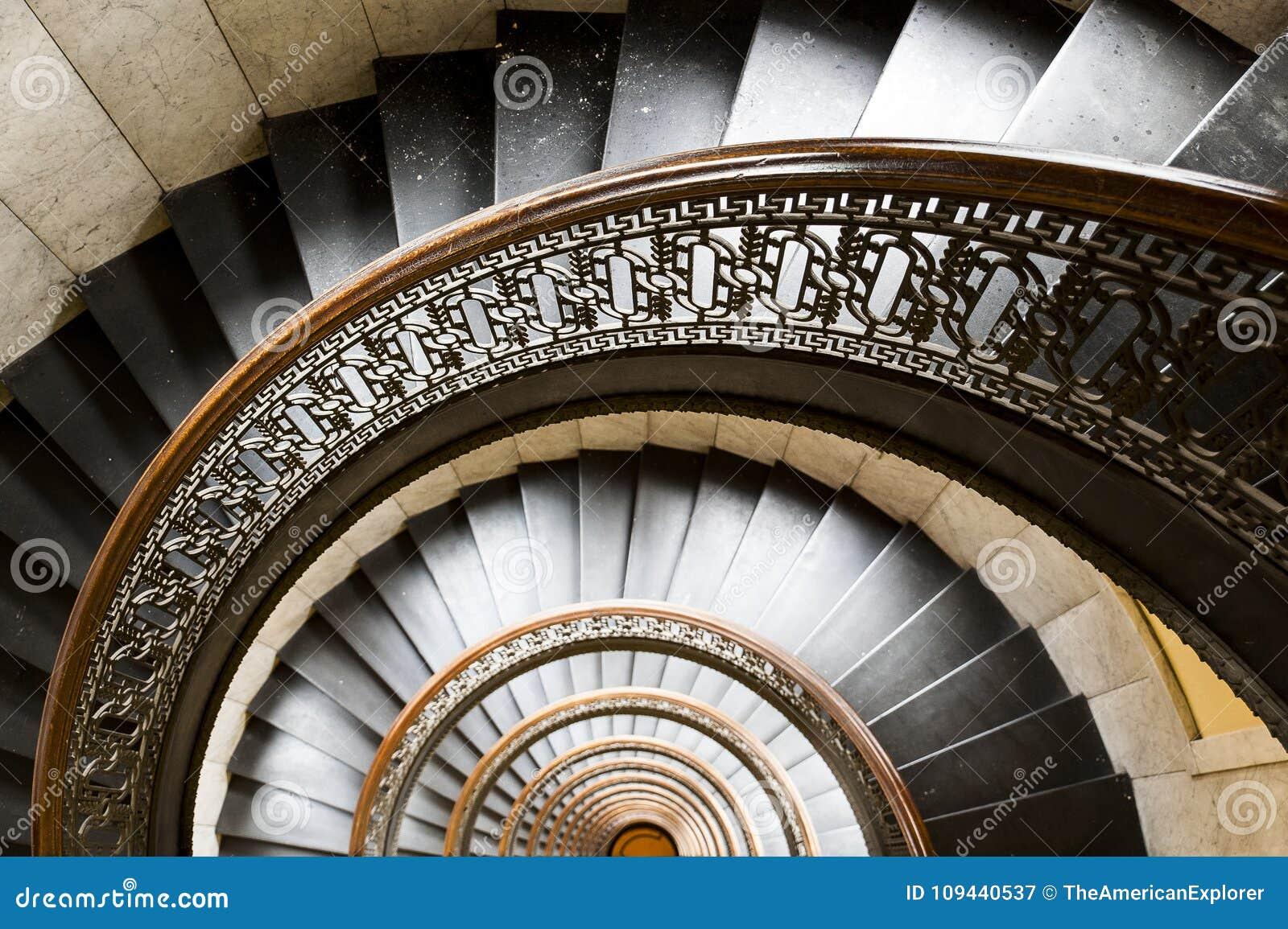 Arrott Building - Half Circular Spiral Marble Staircase - Downtown Pittsburgh, Pennsylvania