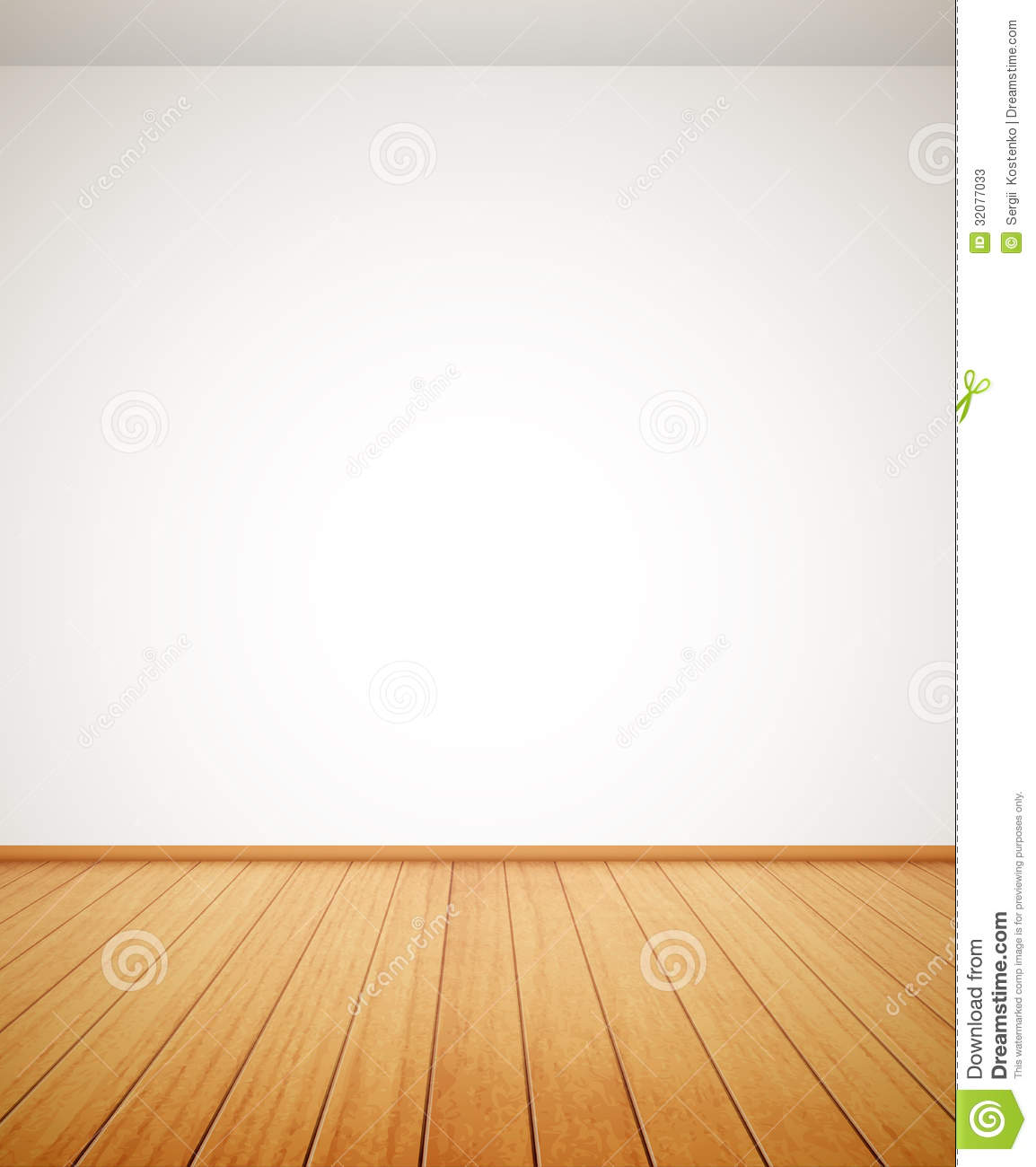Detailed wood floor and white wall stock photos image for Floor and wall