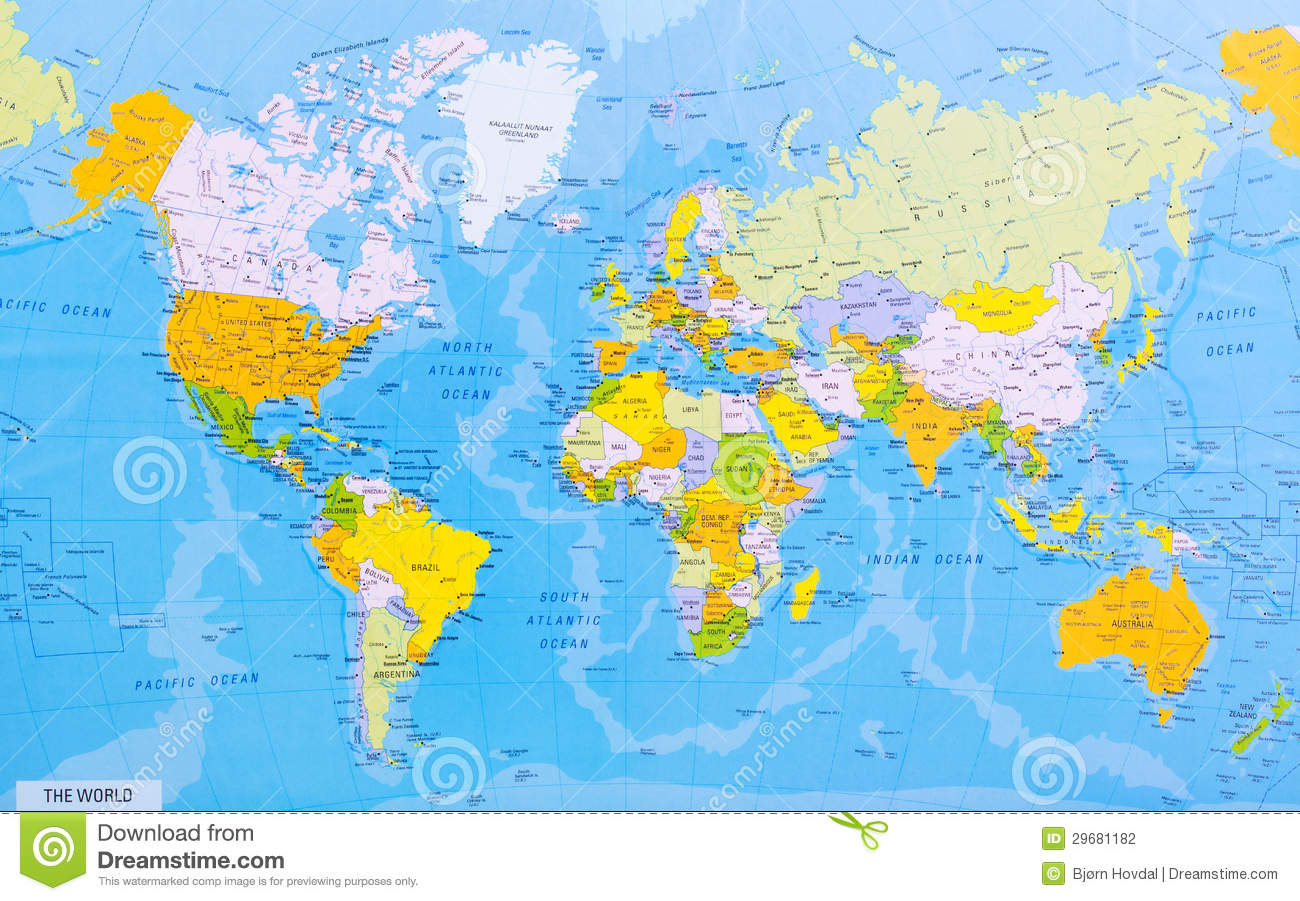 Detailed World Map Stock Photos Royalty Free Pictures