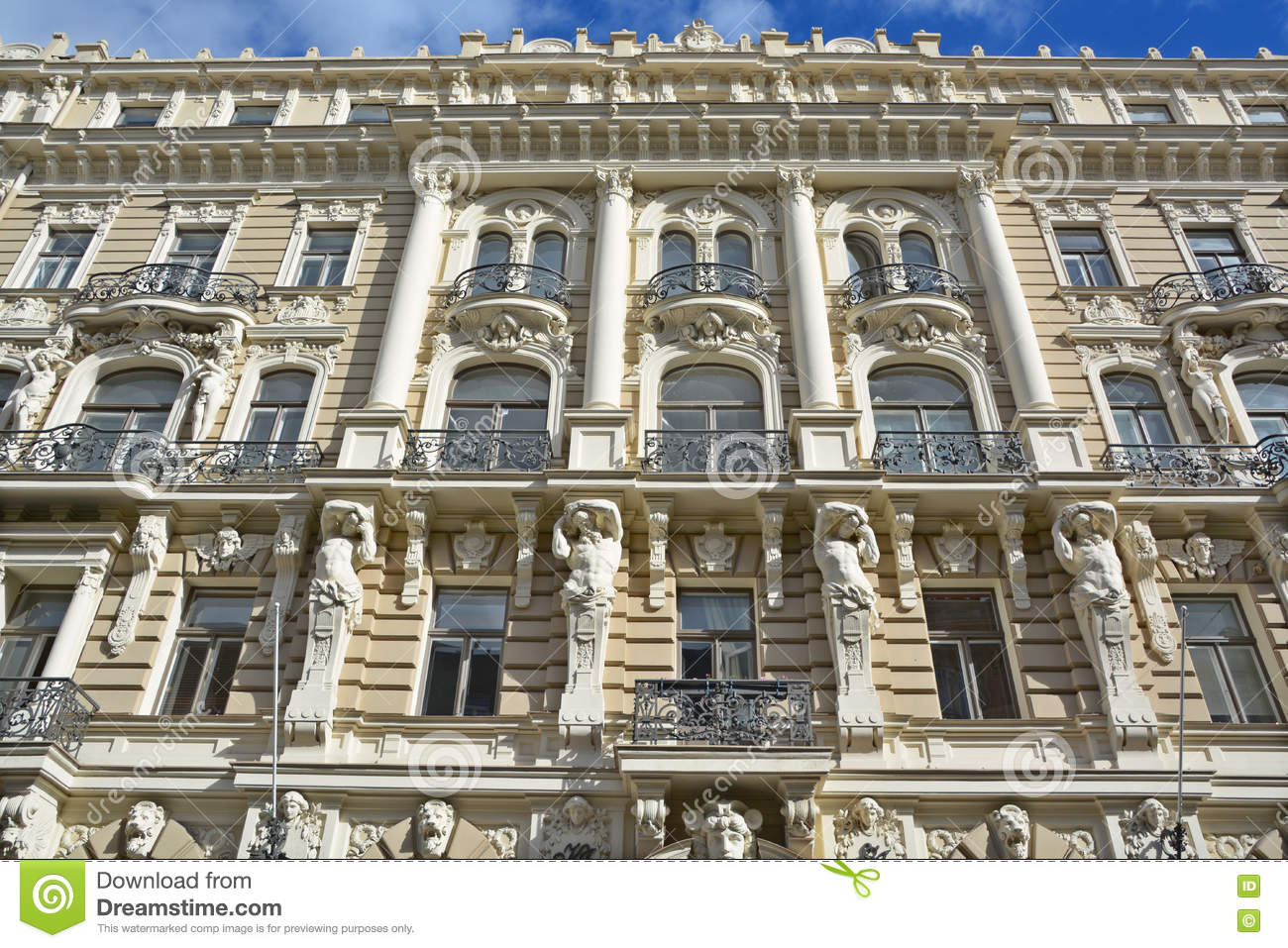 details of art nouveau buildings editorial stock photo image of