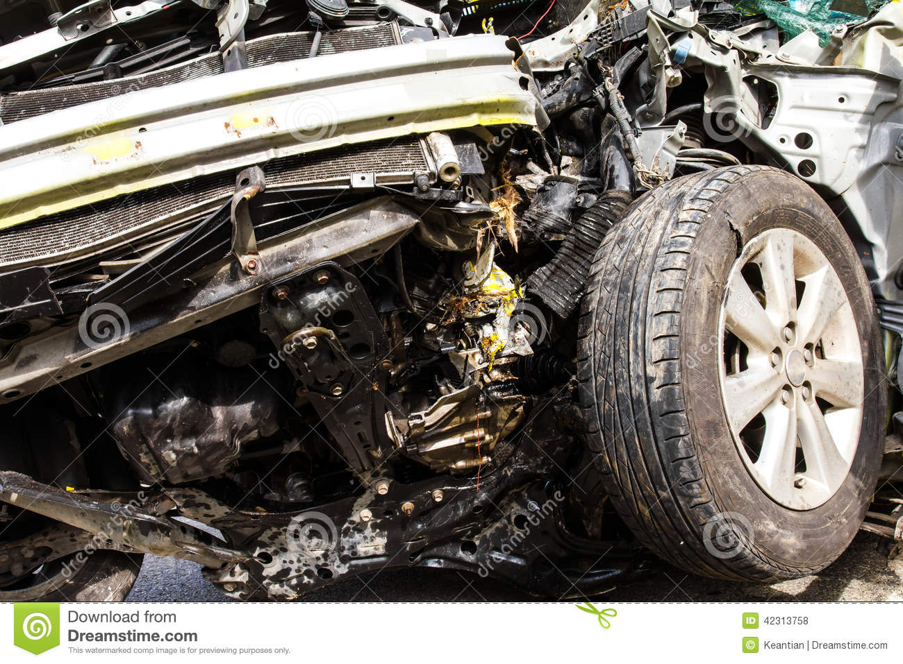 Details of the auto accident