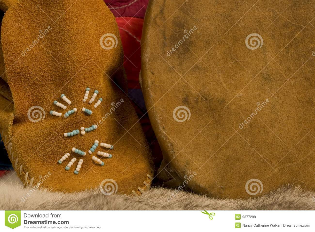 Details of a Childs Moccasin