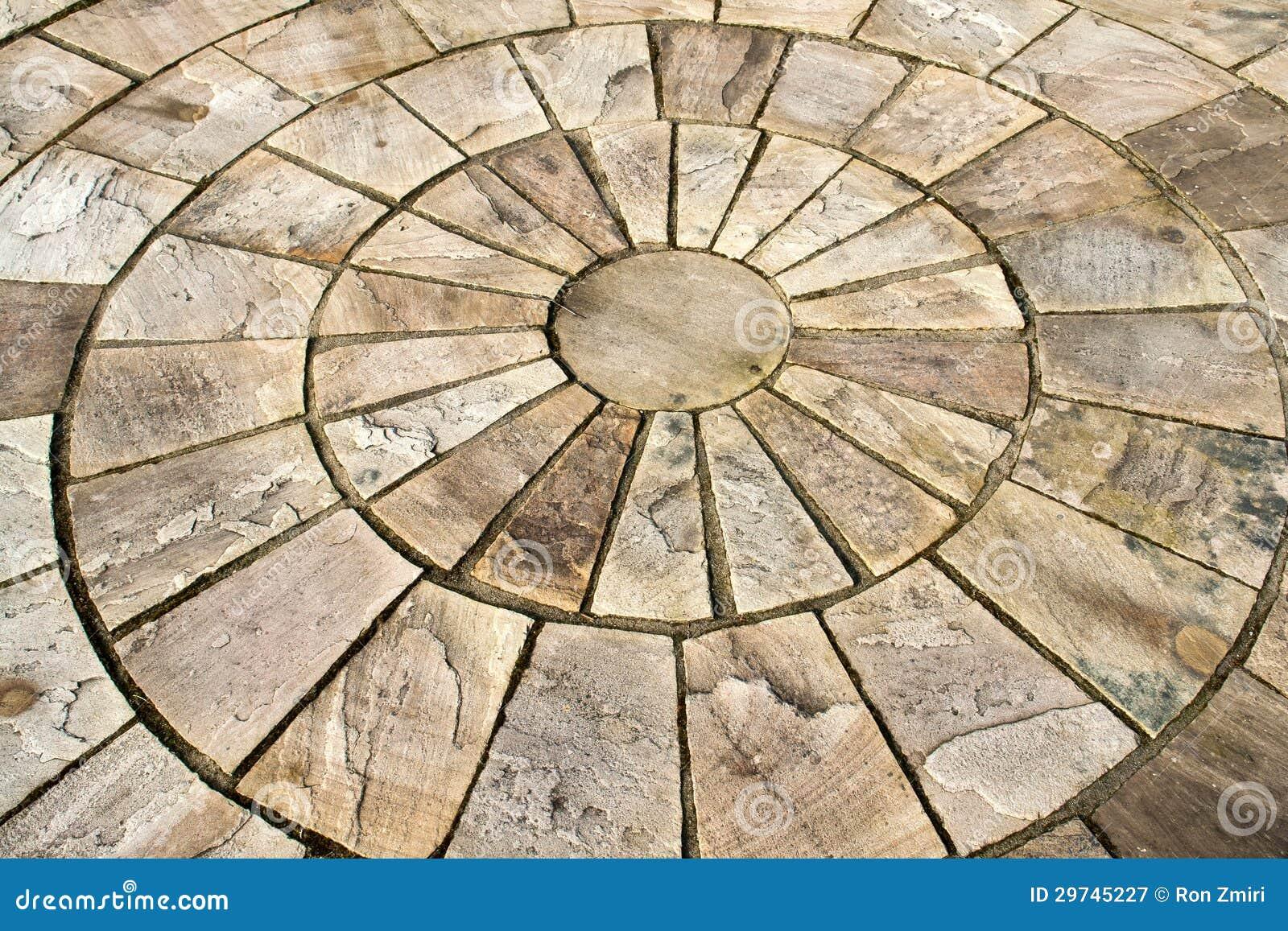 Display of stone floor tiles circle royalty free stock - Garden floor tiles design ...
