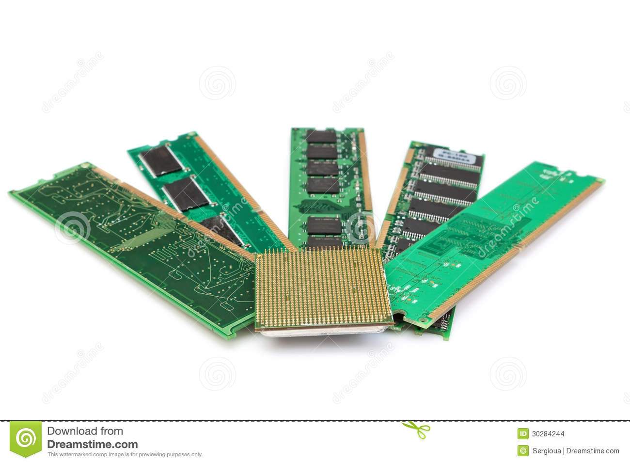 details of computer memory ram and cpu of the old generation stock images image 30284244. Black Bedroom Furniture Sets. Home Design Ideas