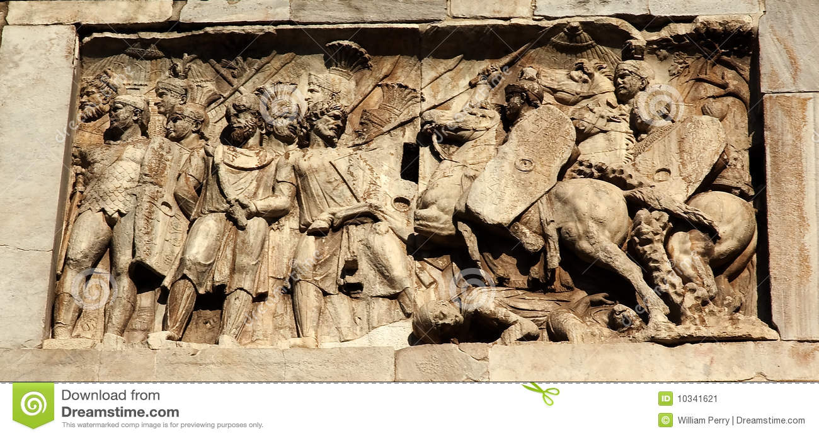 Details Constantine Arch Roman Soldiers Rome