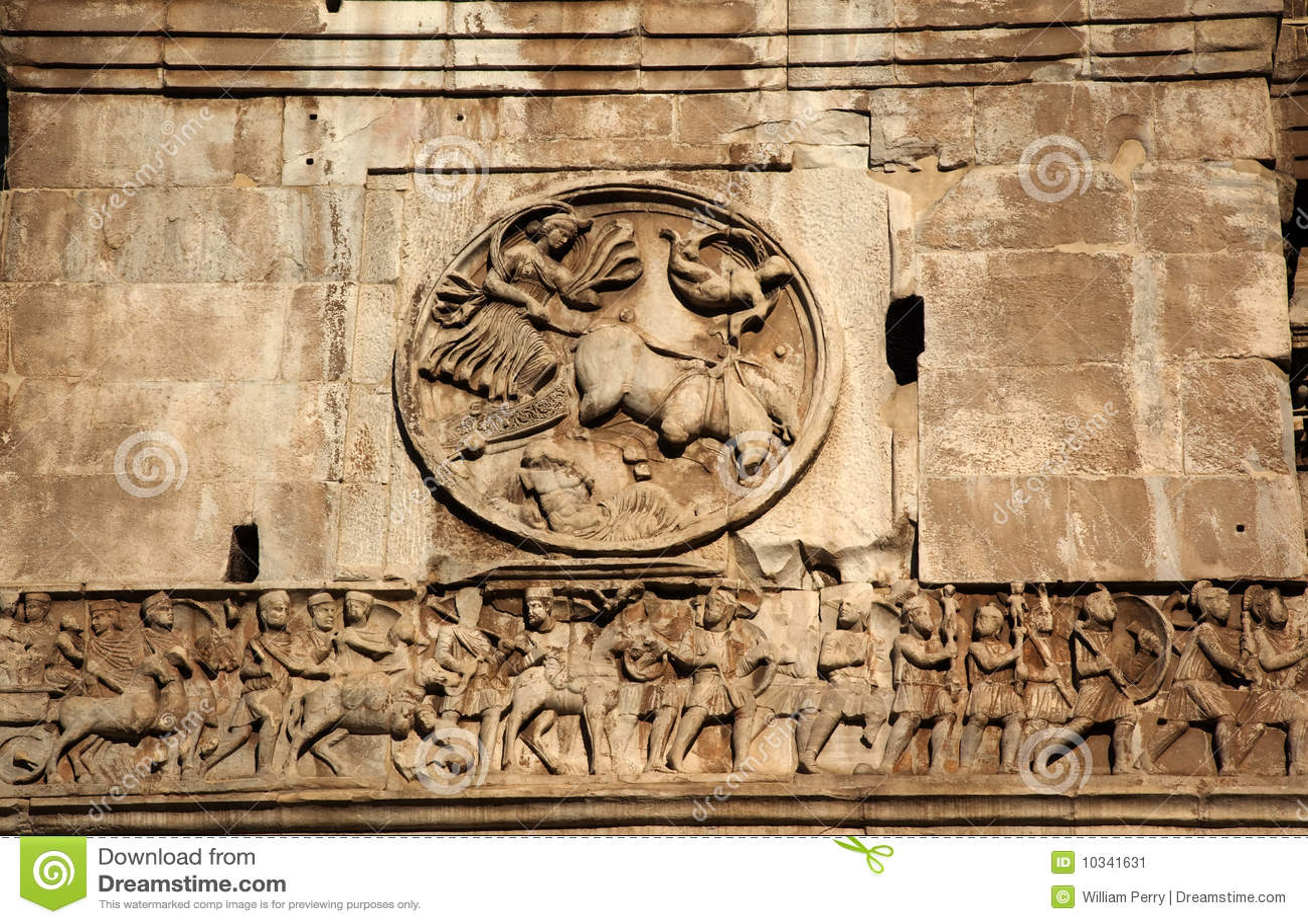 Details Constantine Arch Roman Soldiers Rome Stock Image