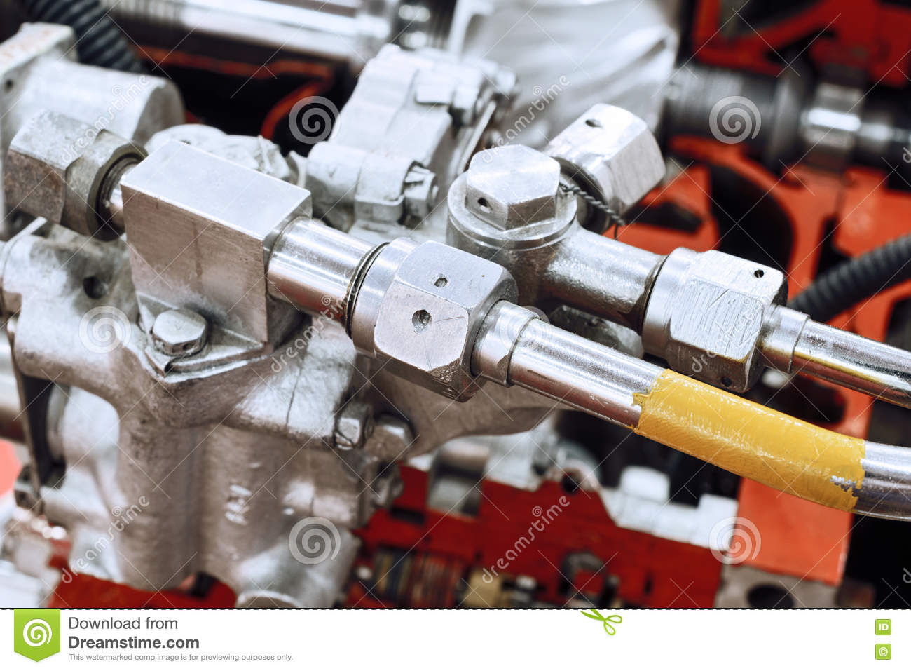 Details Of Gas-turbine Auxiliary Power Unit  Stock Image - Image of