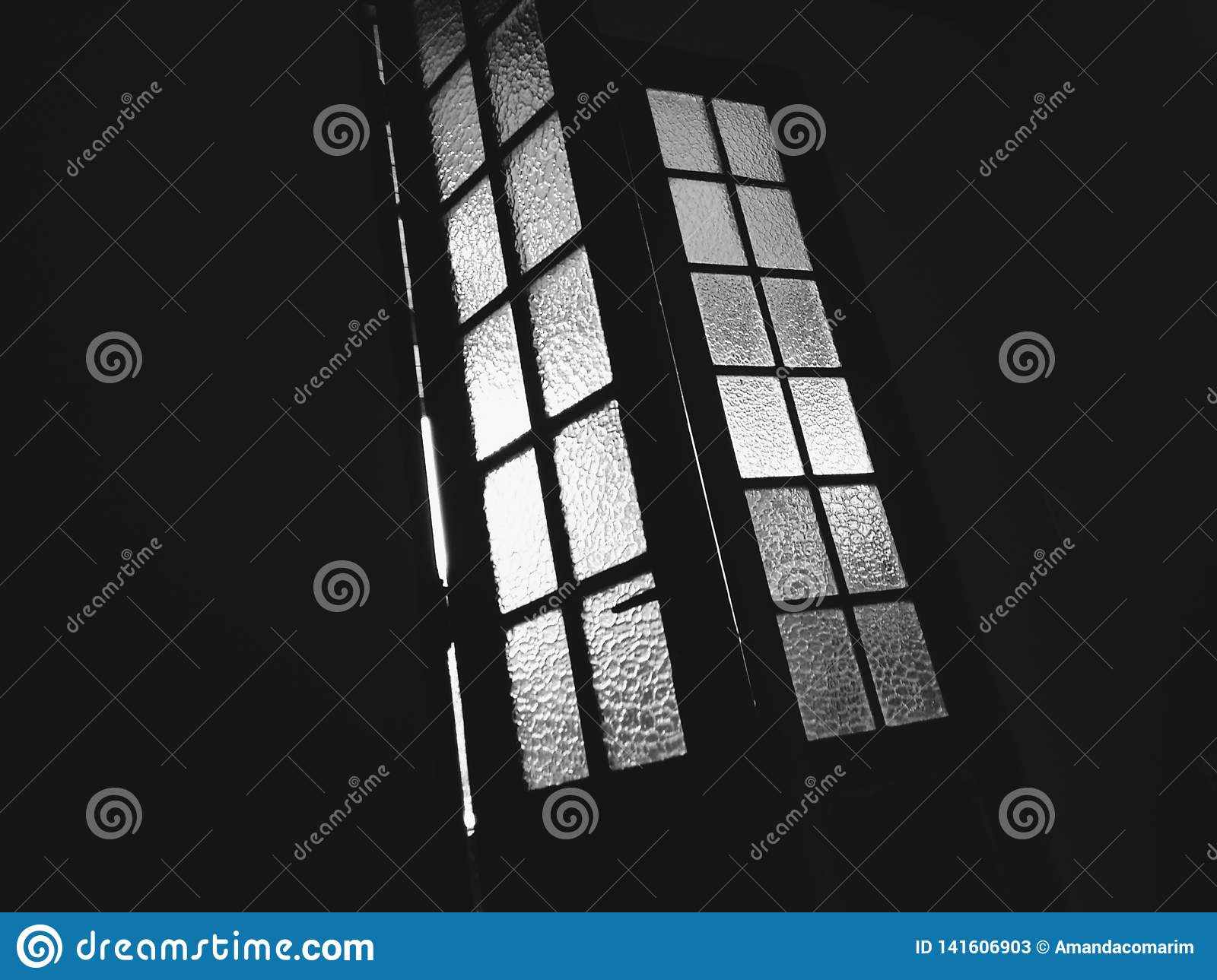 Details of a glass window