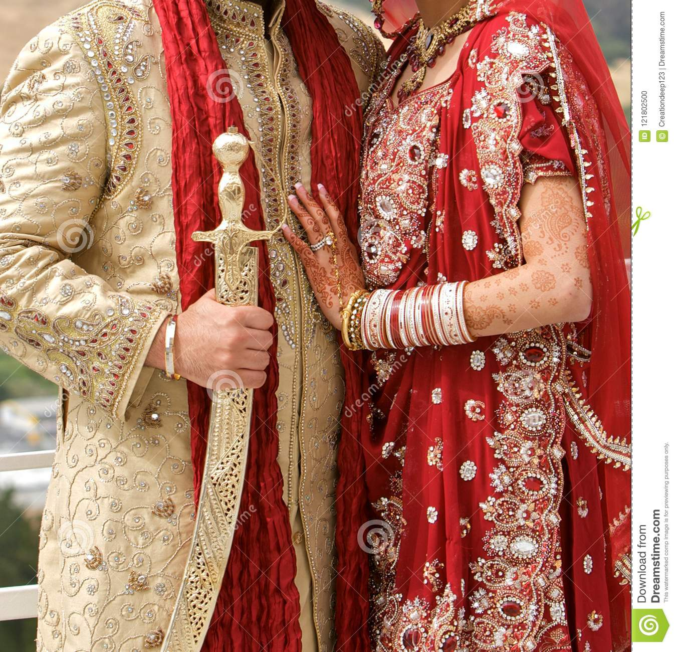 Details Of Grooms And Brides Wear At The Punjabi Wedding Indian Wedding Accessories