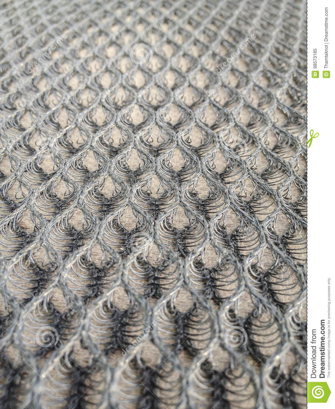 Details Of The Honeycomb Mesh Fabric Upholstery Is A Device Of