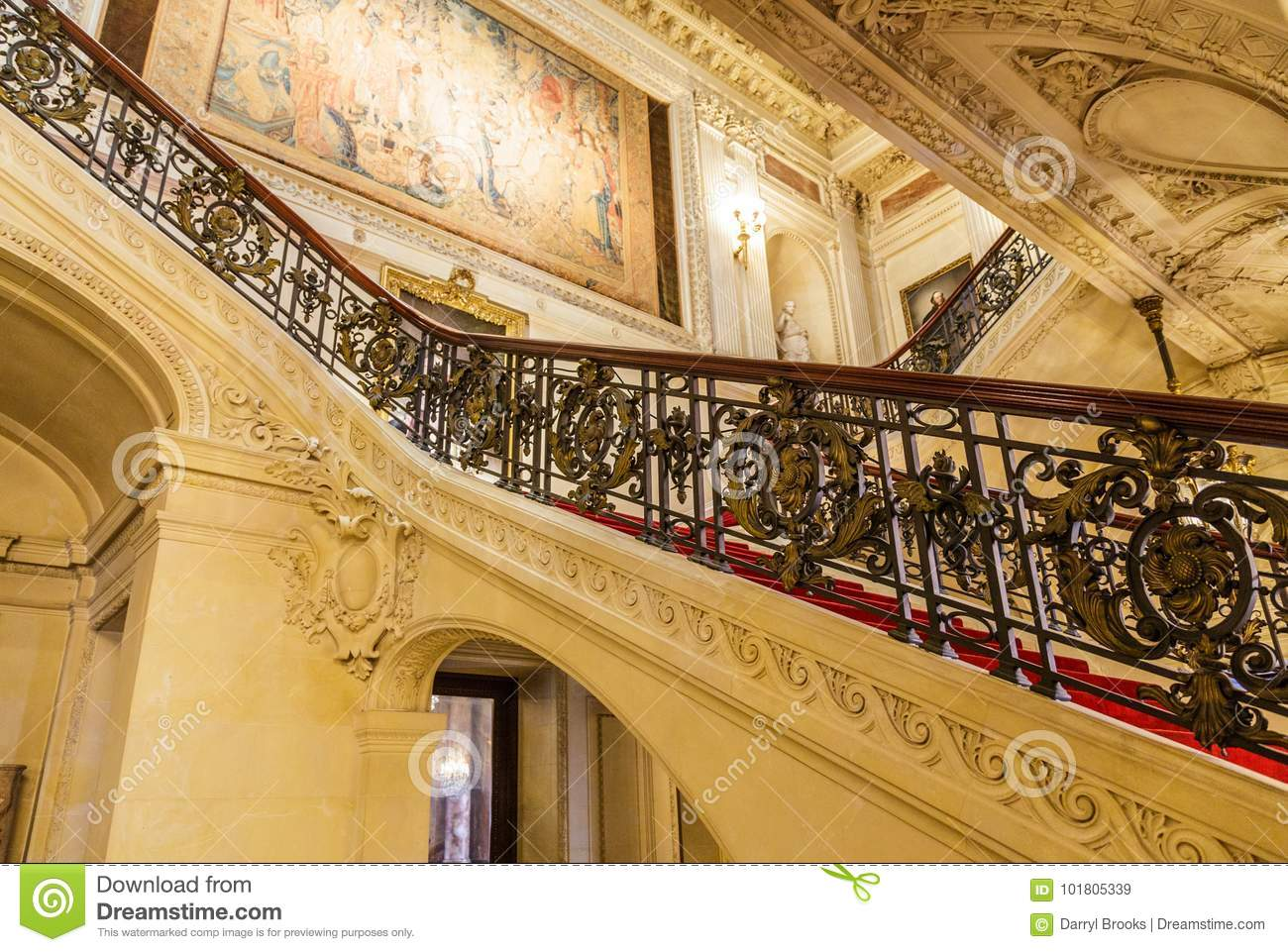 Superieur Download Ornate Staircase Banister In Rhode Island Mansion Editorial Stock  Image   Image Of Banister,