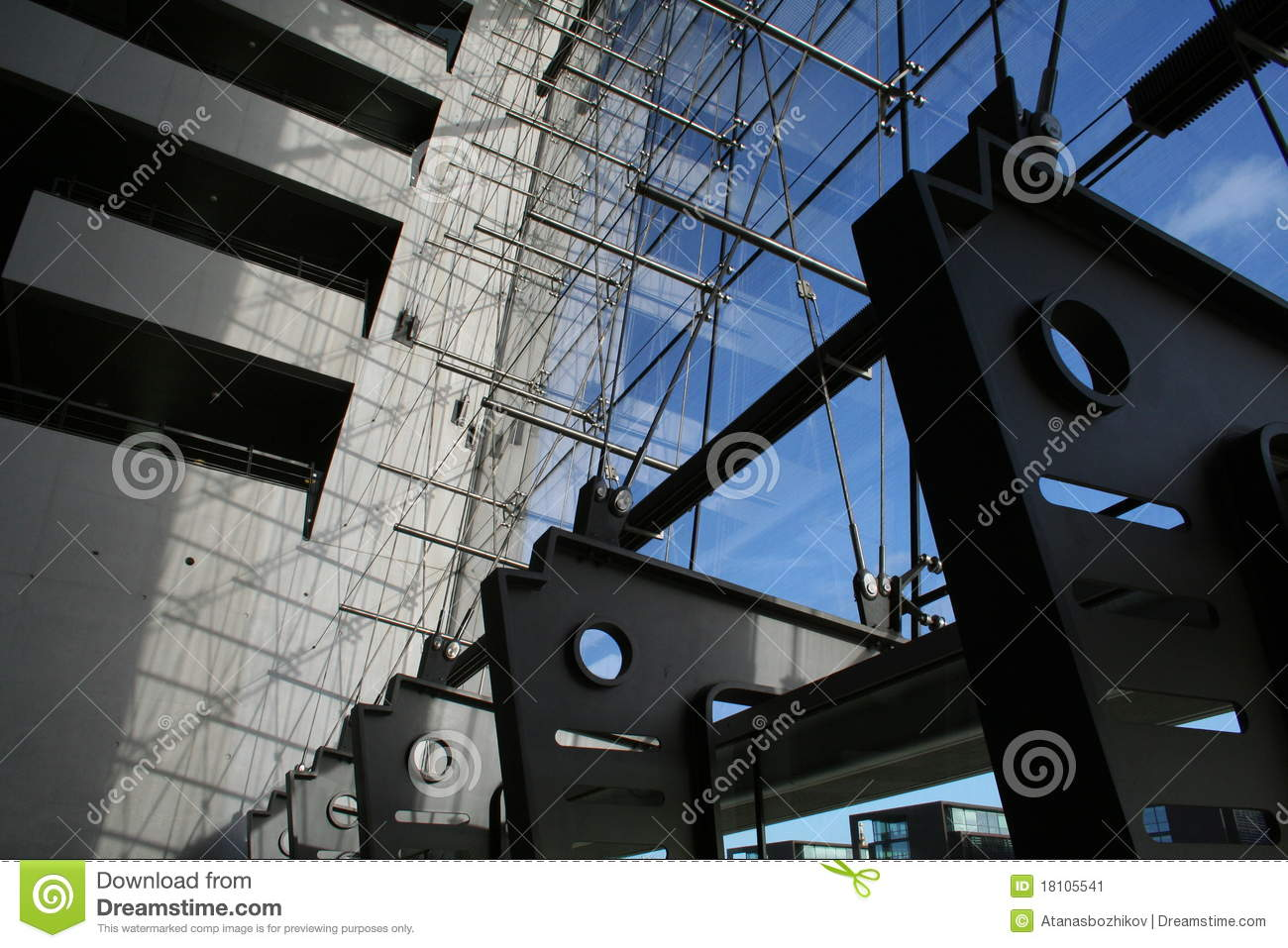 Details Of A Modern Architecture Building Stock Image