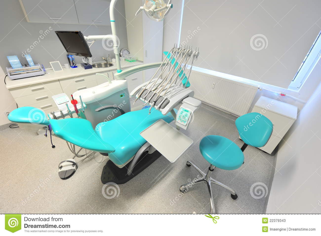 details from a modern dentists office stock photos - image: 22379343