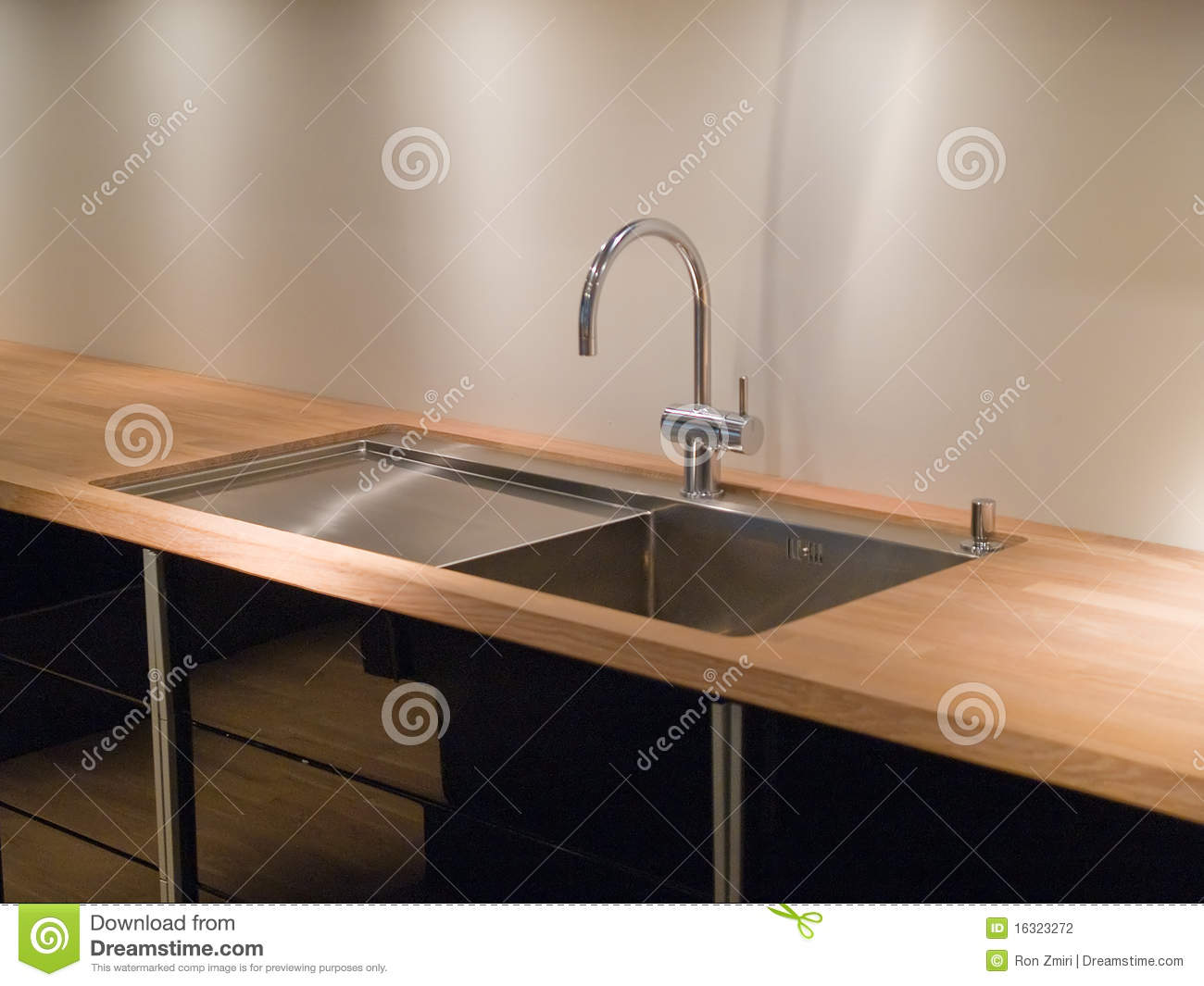 Modern Kitchen Sink Faucets modern kitchen sink and faucet royalty free stock photos - image