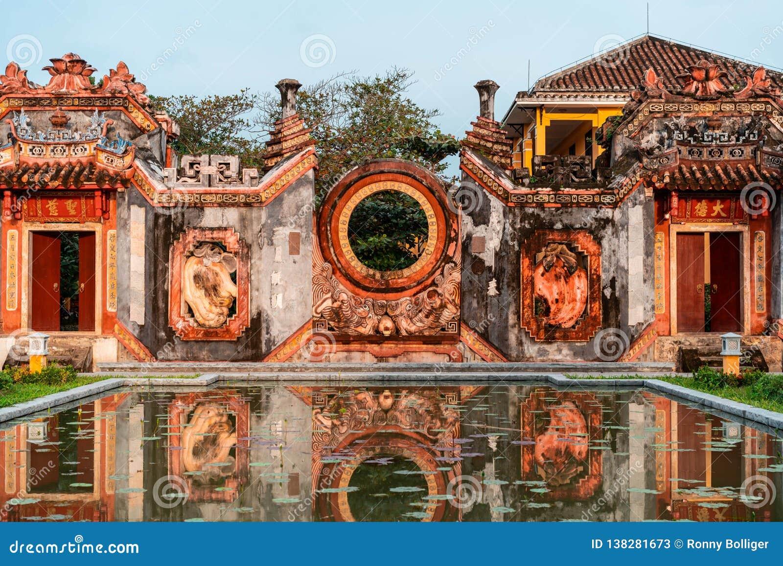 Details of Mother Temple Chua Ba Mu in Hoi An, Vietnam.