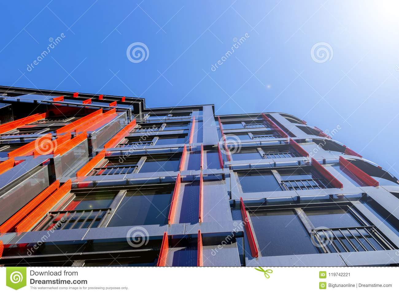 high tech modern architecture buildings. Details Of Office Building Exterior. Business Buildings Skyline Looking Up  With Blue Sky. Modern Architecture Apartment. High Tech High Modern ,
