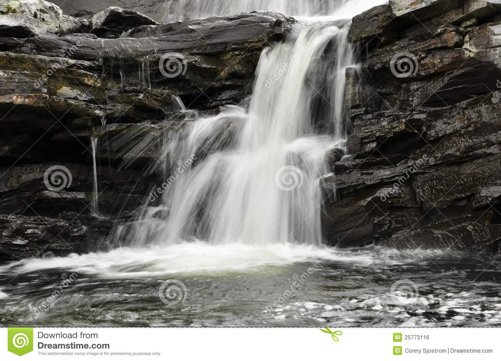Details van mooie waterval