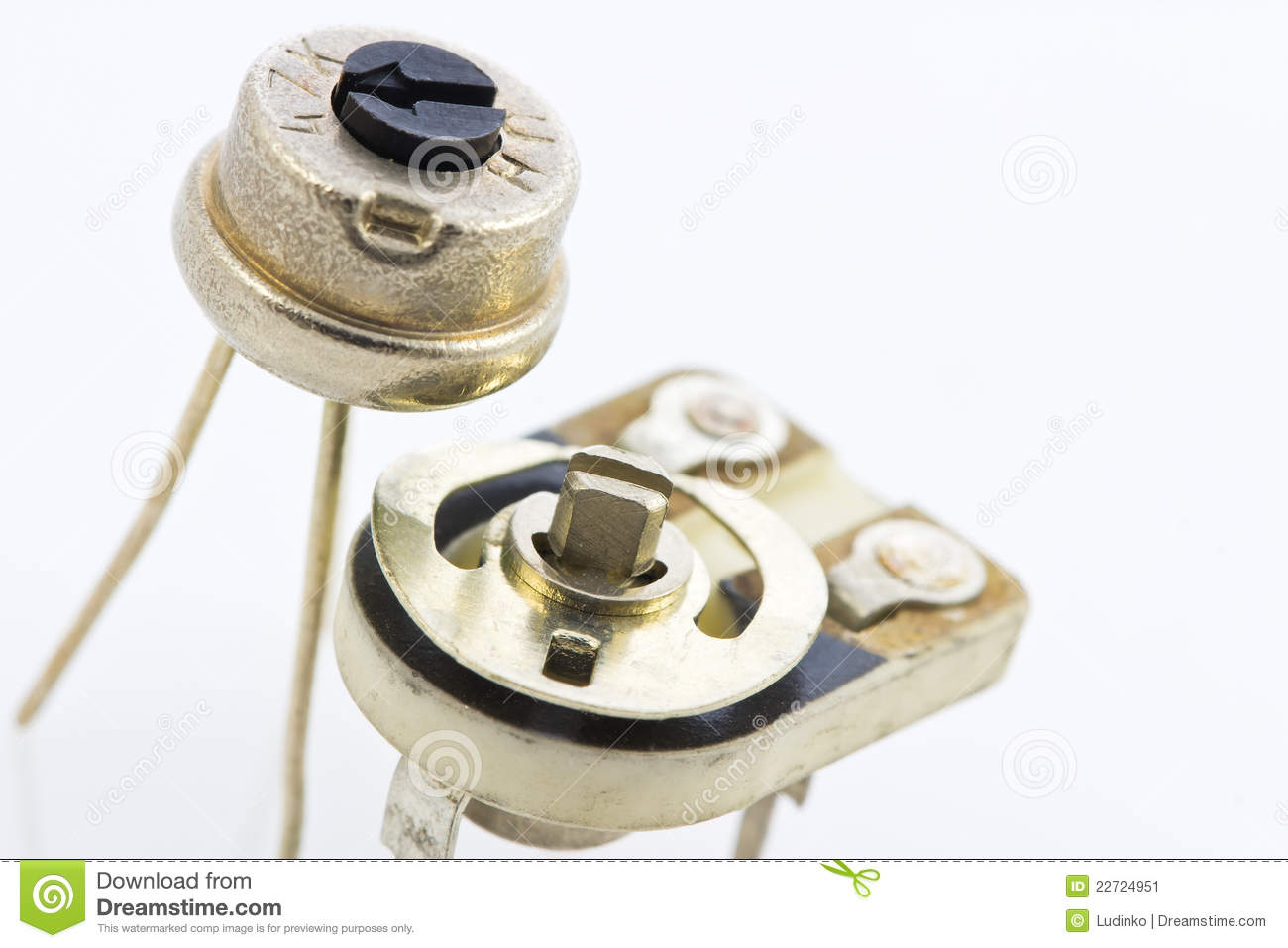 Details Of A Variable Resistors Trimmers Stock Image Resistor Circuit