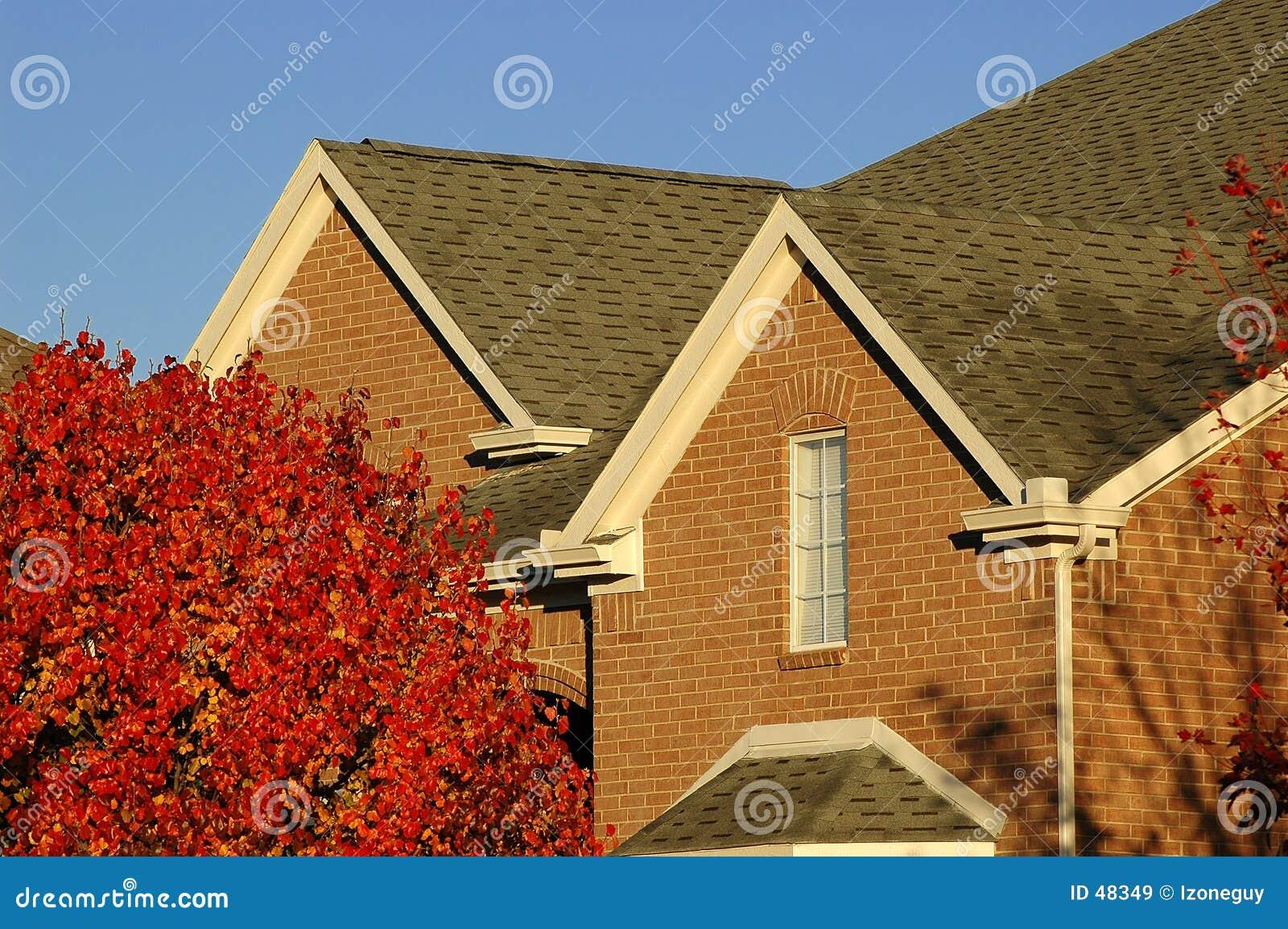 Detalhe da HOME do tijolo vermelho