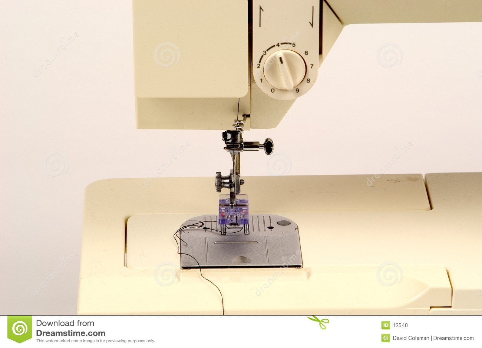 Detalhe da máquina de costura