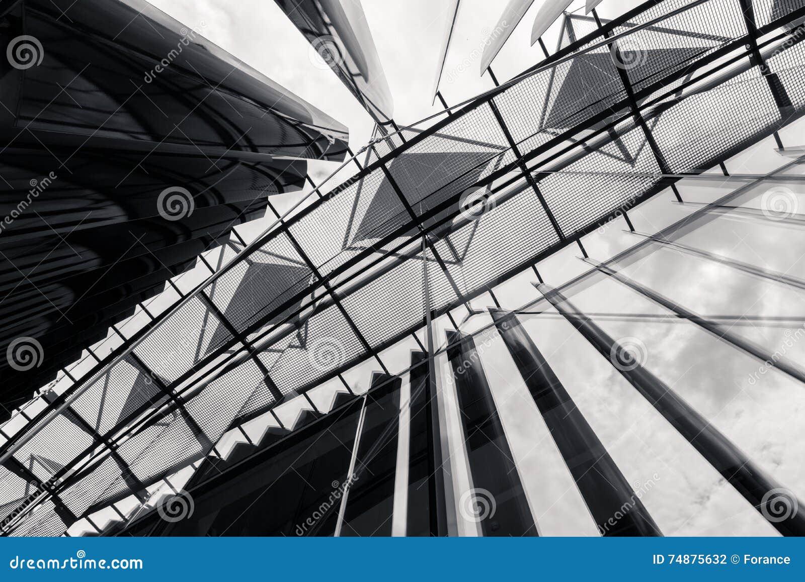Detalhe de construção de Tomas Bata University em Zlin (TBU)