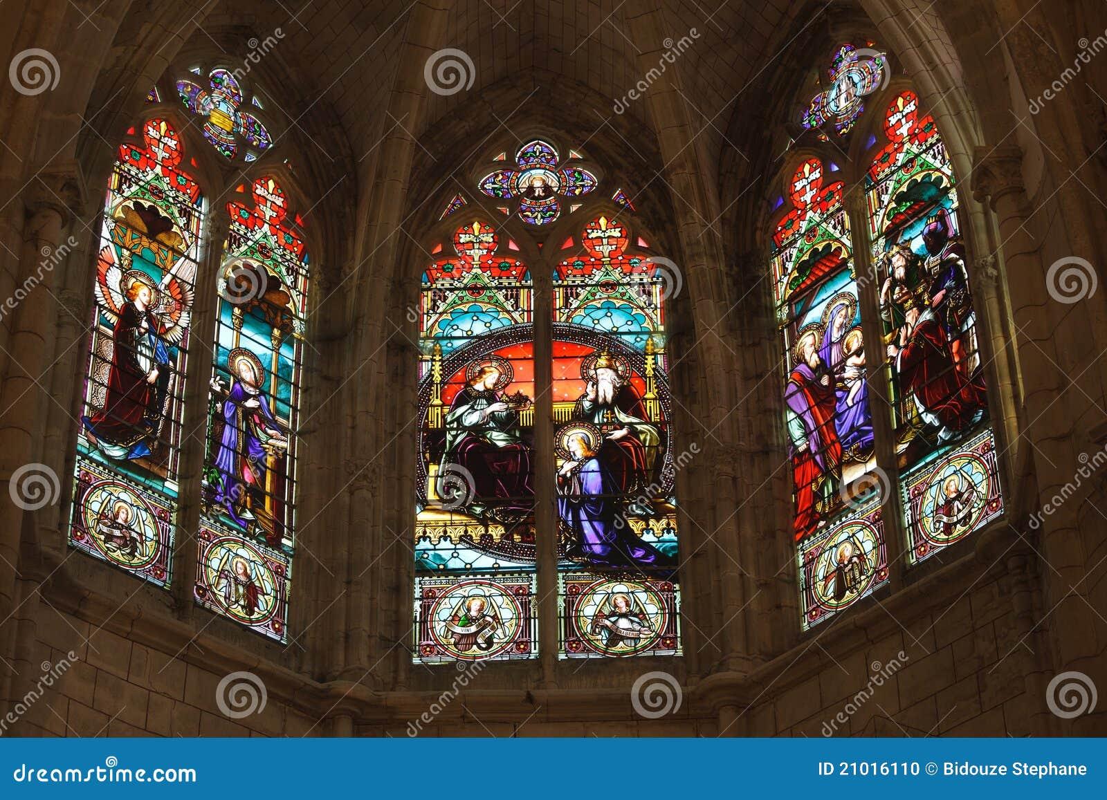 Detalhe de igreja gótico francesa