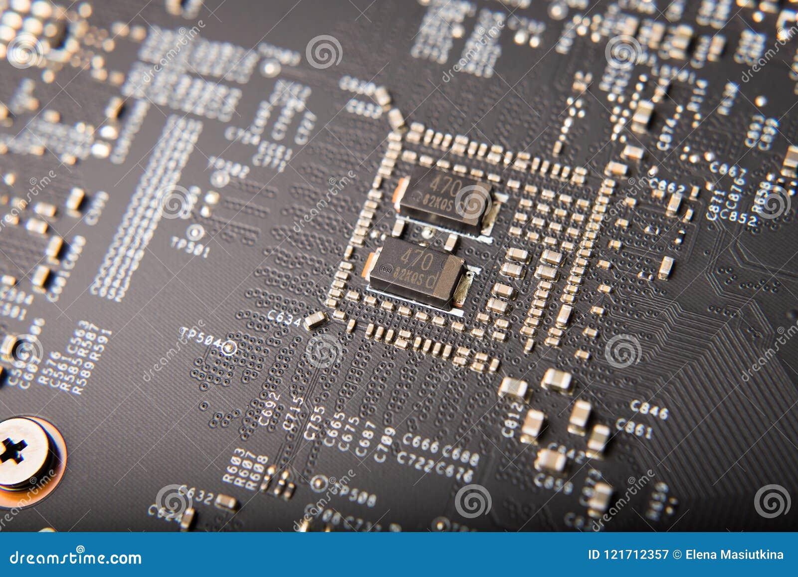 Detalhe de placa de vídeo moderna do computador