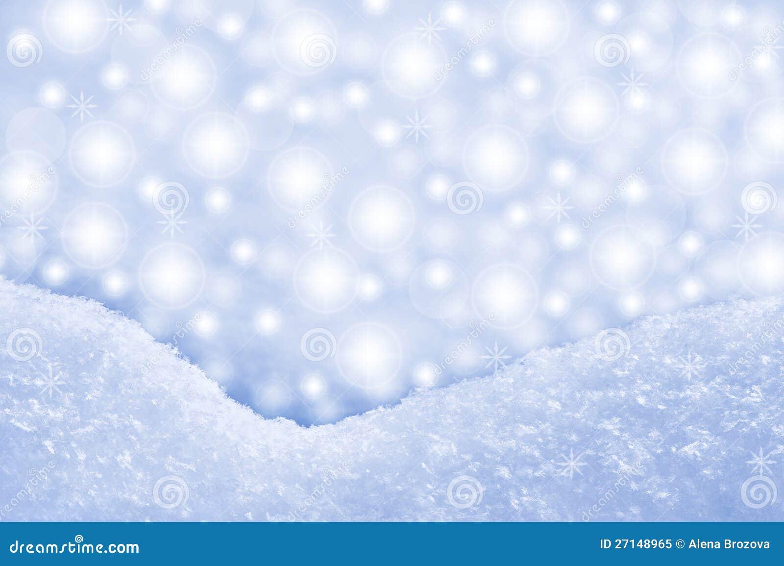 Detalhe de snowdrift e de fundo sparkling
