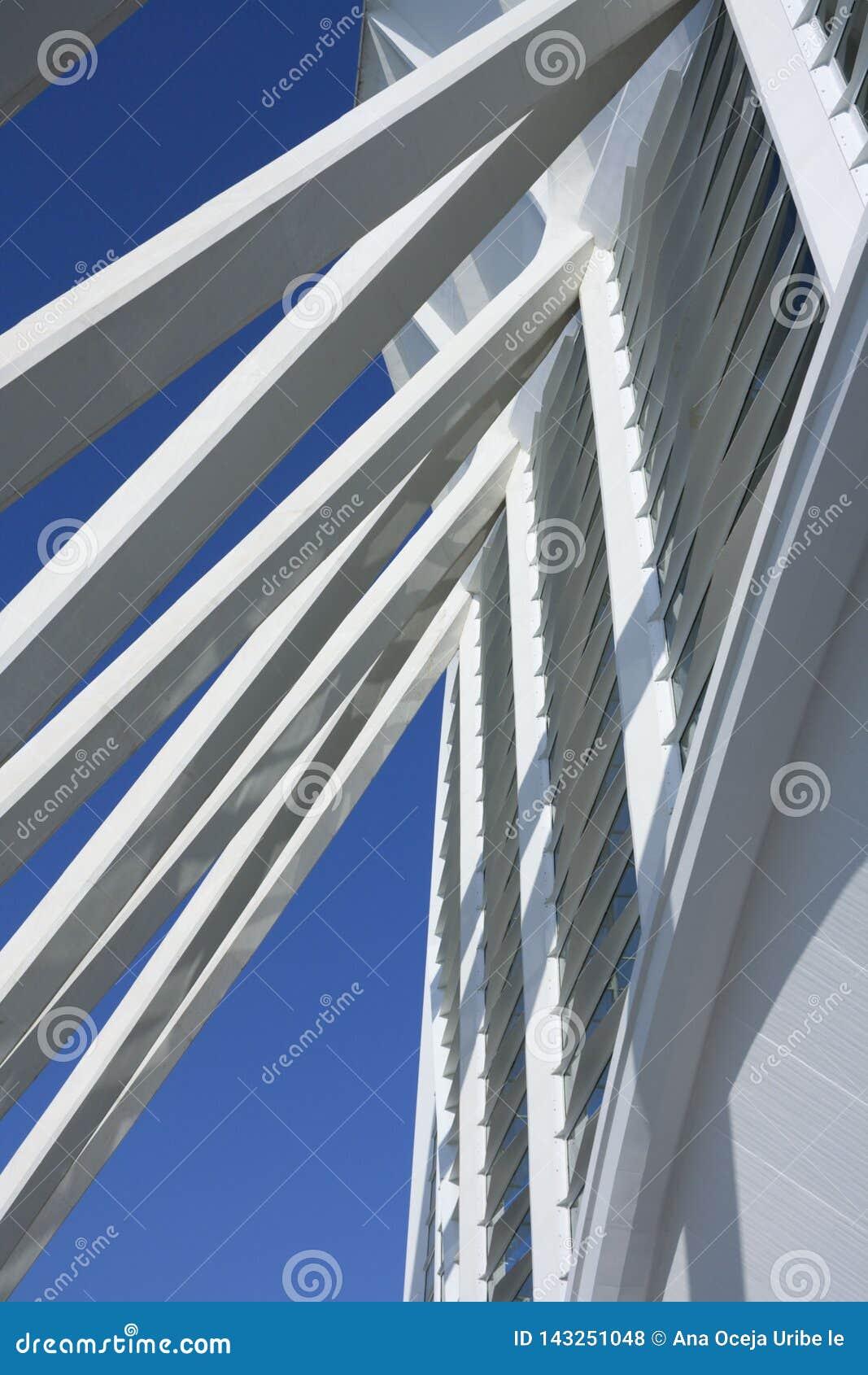 Detalhe de uma das construções de Santiago Calatrava em Valência